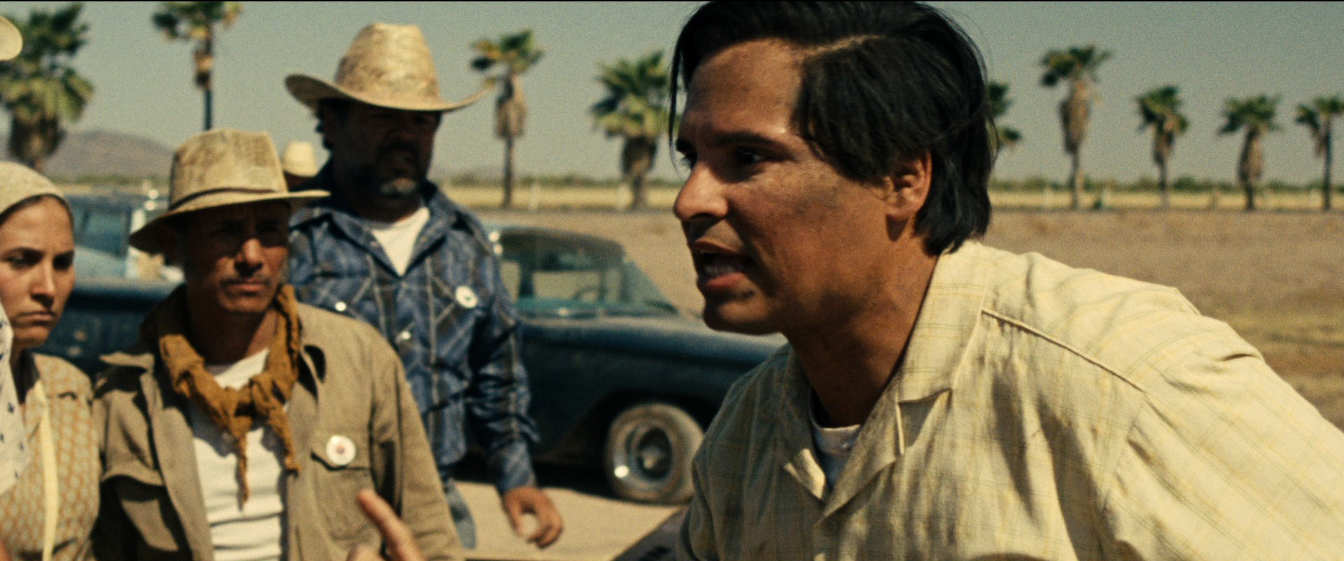 Michael Peña as the first-generation Mexican-American union organizer Cesar Chavez