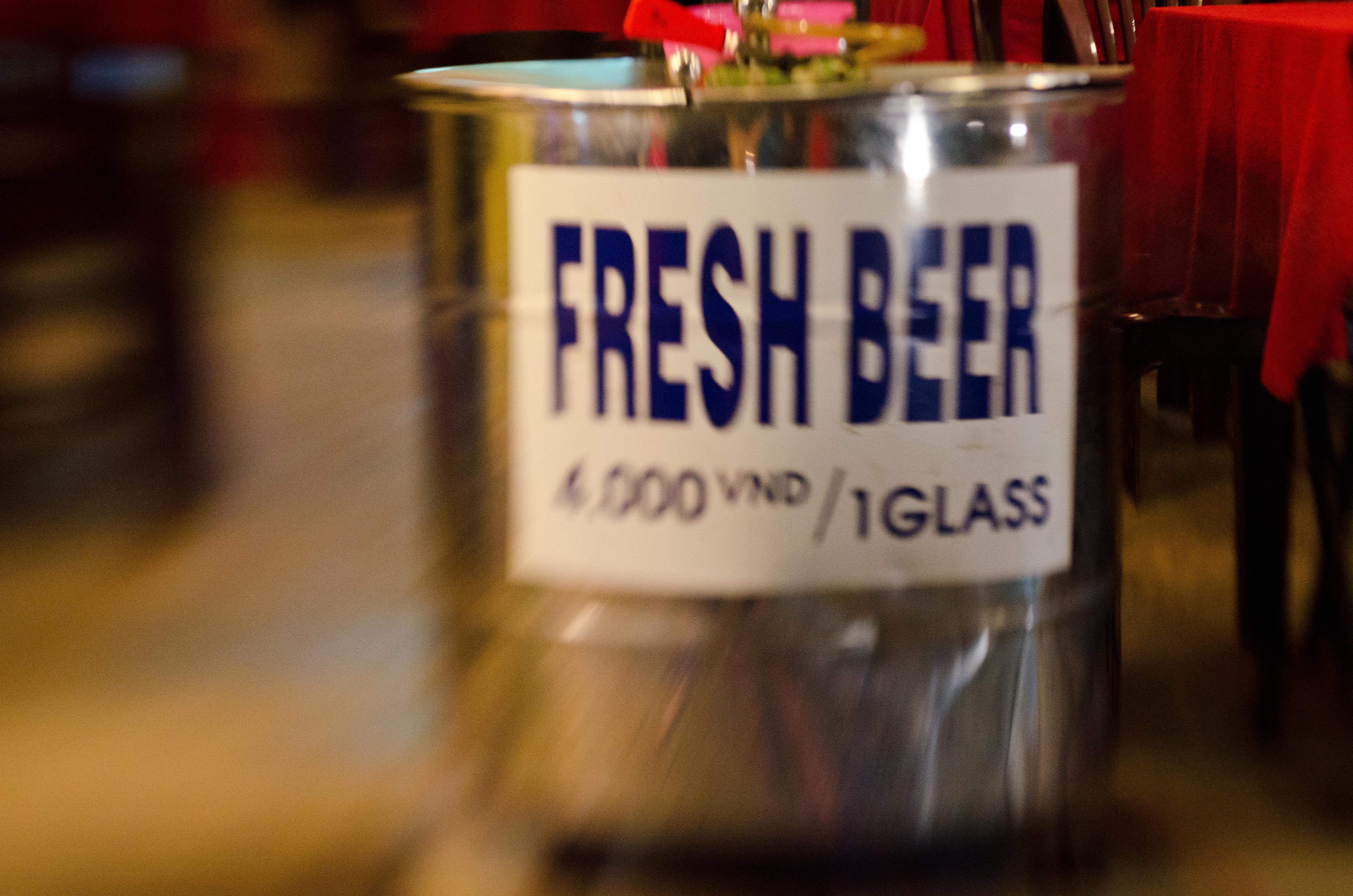 Blurry beer keg