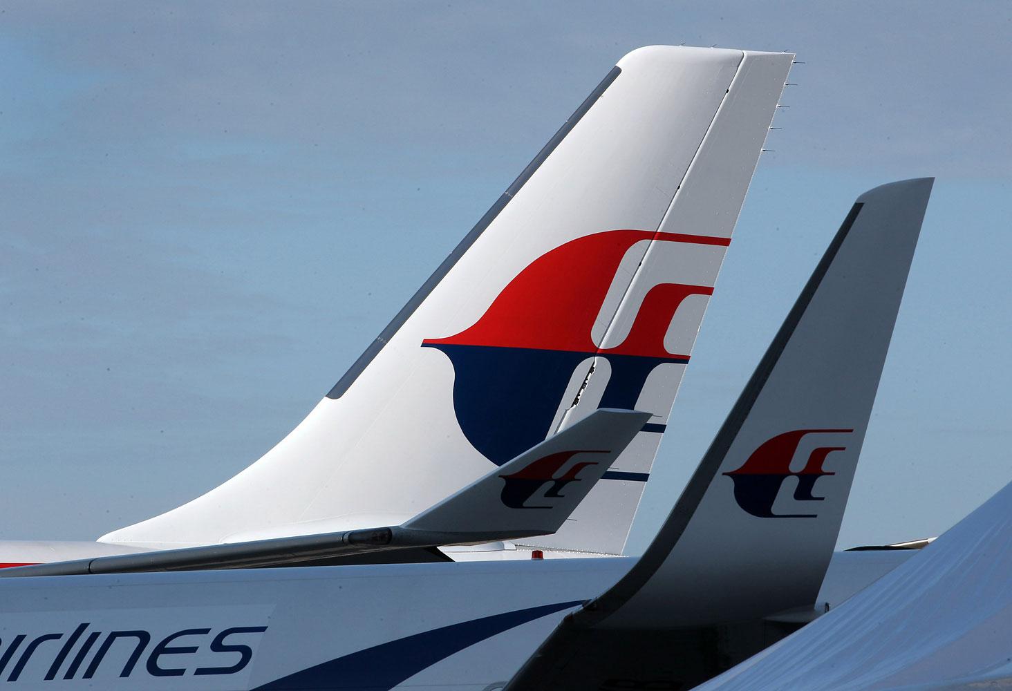 A Malaysia Airlines aircraft at the Kuala Lumpur International Airport, Jan. 2013.