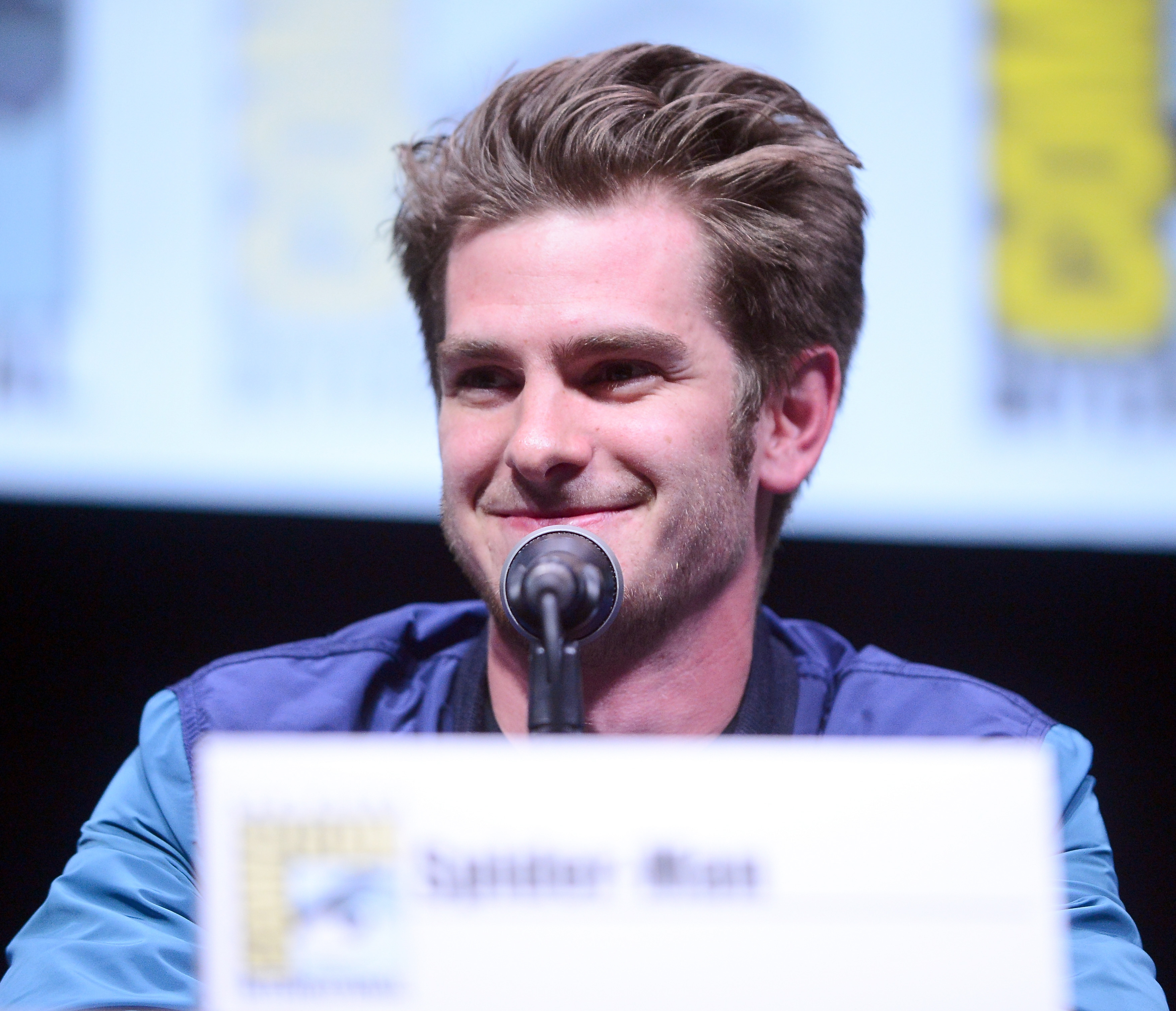 Andrew Garfield attends The Sony and Screen Gems Panelsl as part of Comic-Con International 2013 held at San Diego Convention Center on Friday July 19, 2012 in San Diego, California.