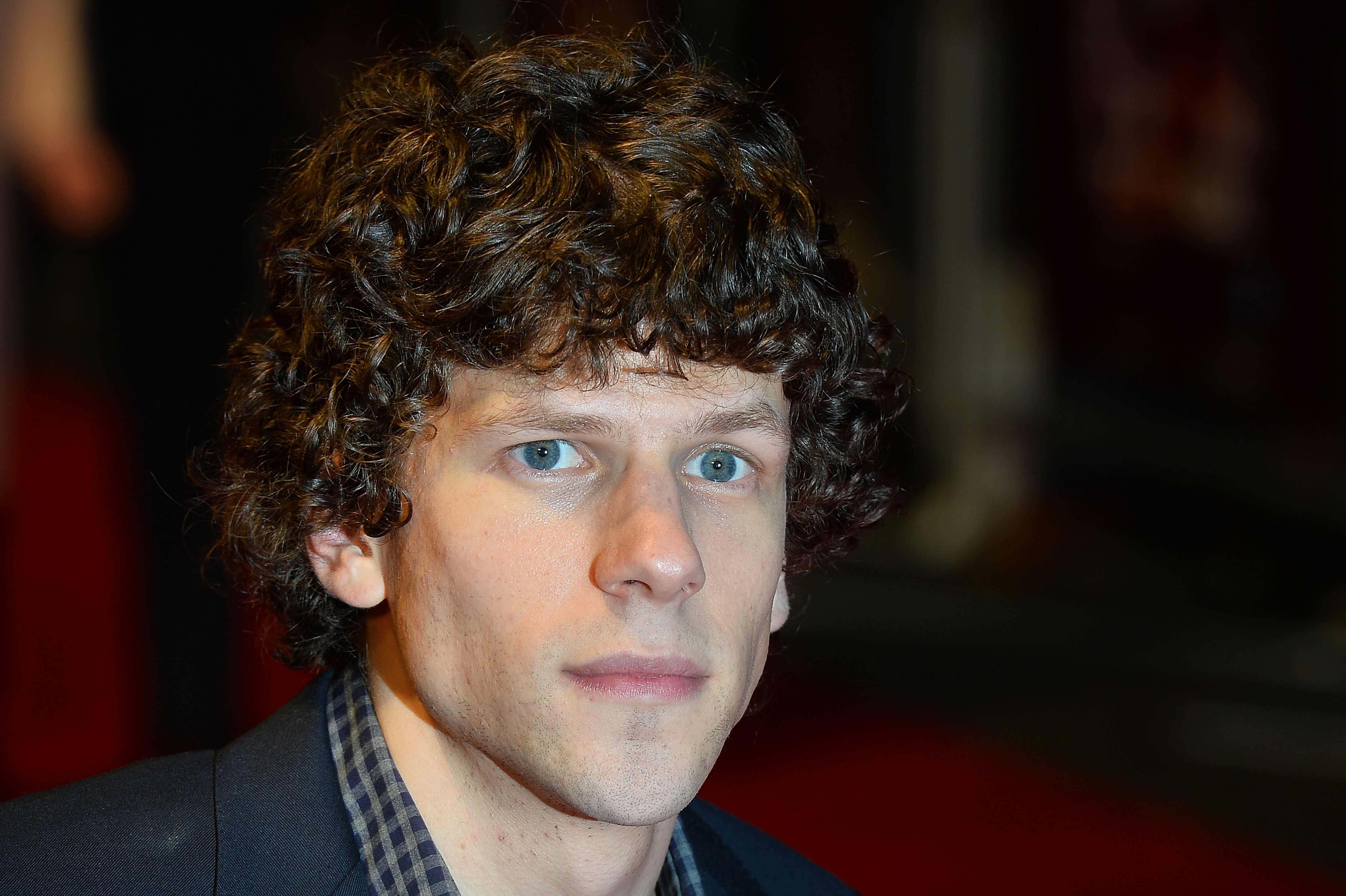 Jesse Eisenberg attends the European premiere of his film 'The Double' during the London Film Festival in central London on October 12, 2013.