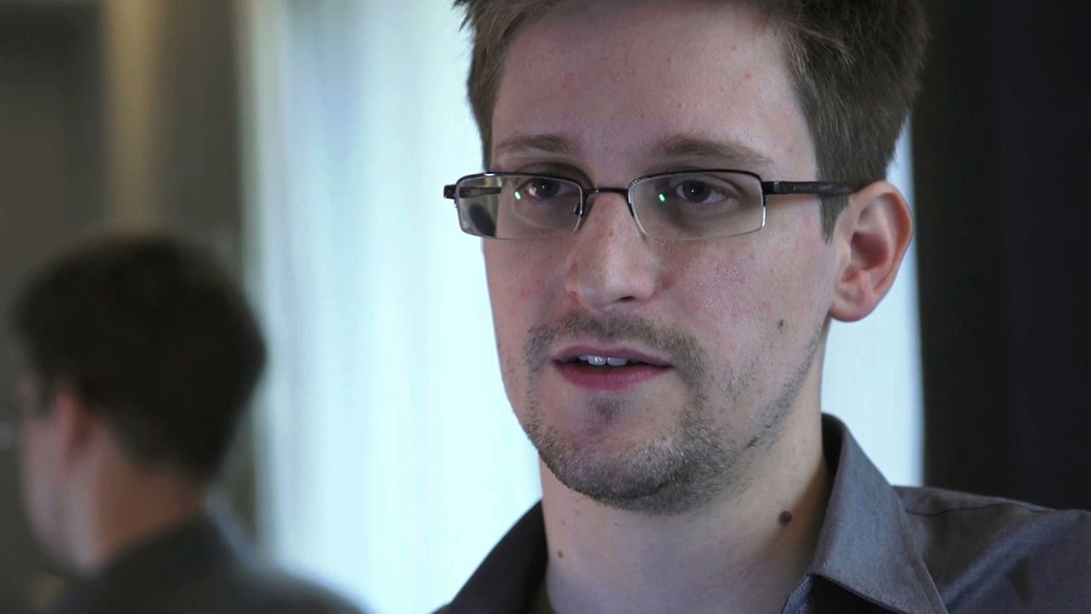 Edward Snowden is seen in this still image taken from video during an interview by The Guardian in his hotel room in Hong Kong, on June 6, 2013.