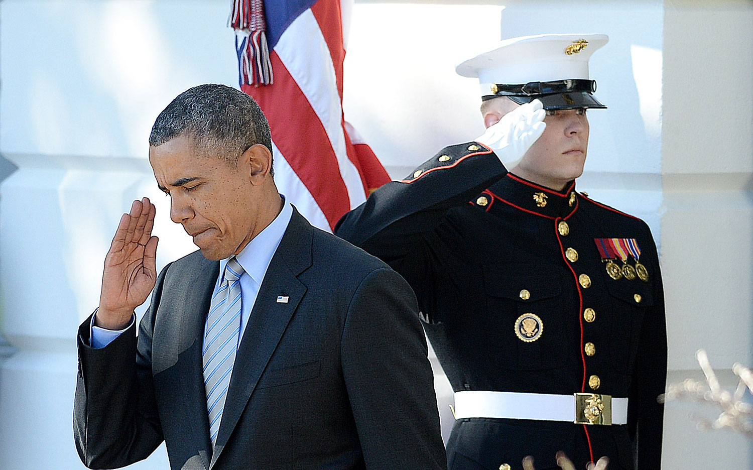 President Barack Obama on the South Lawn of the White House on March 10, 2014.