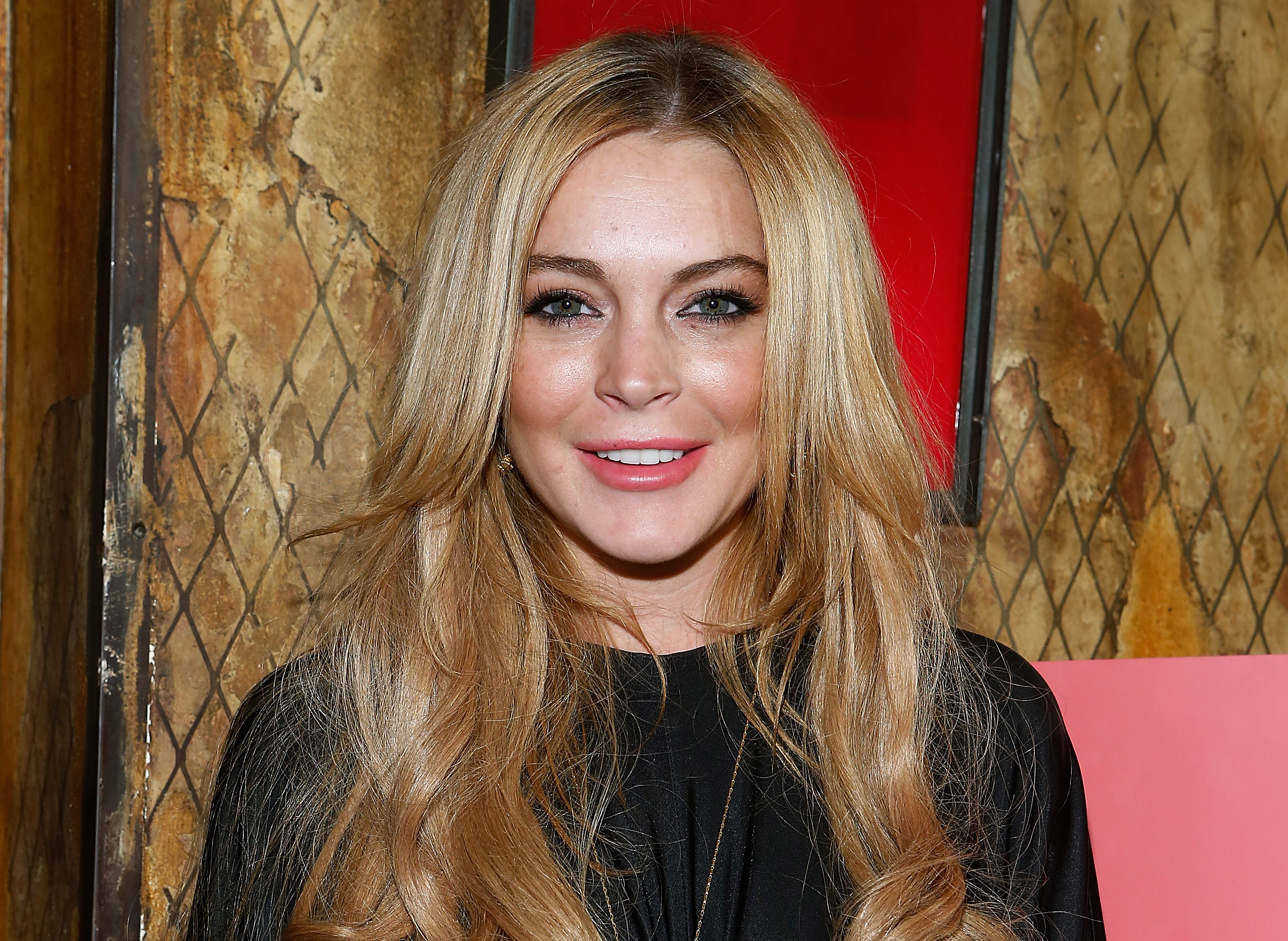 Linsay Lohan at Pravda on December 16, 2013 in New York City.