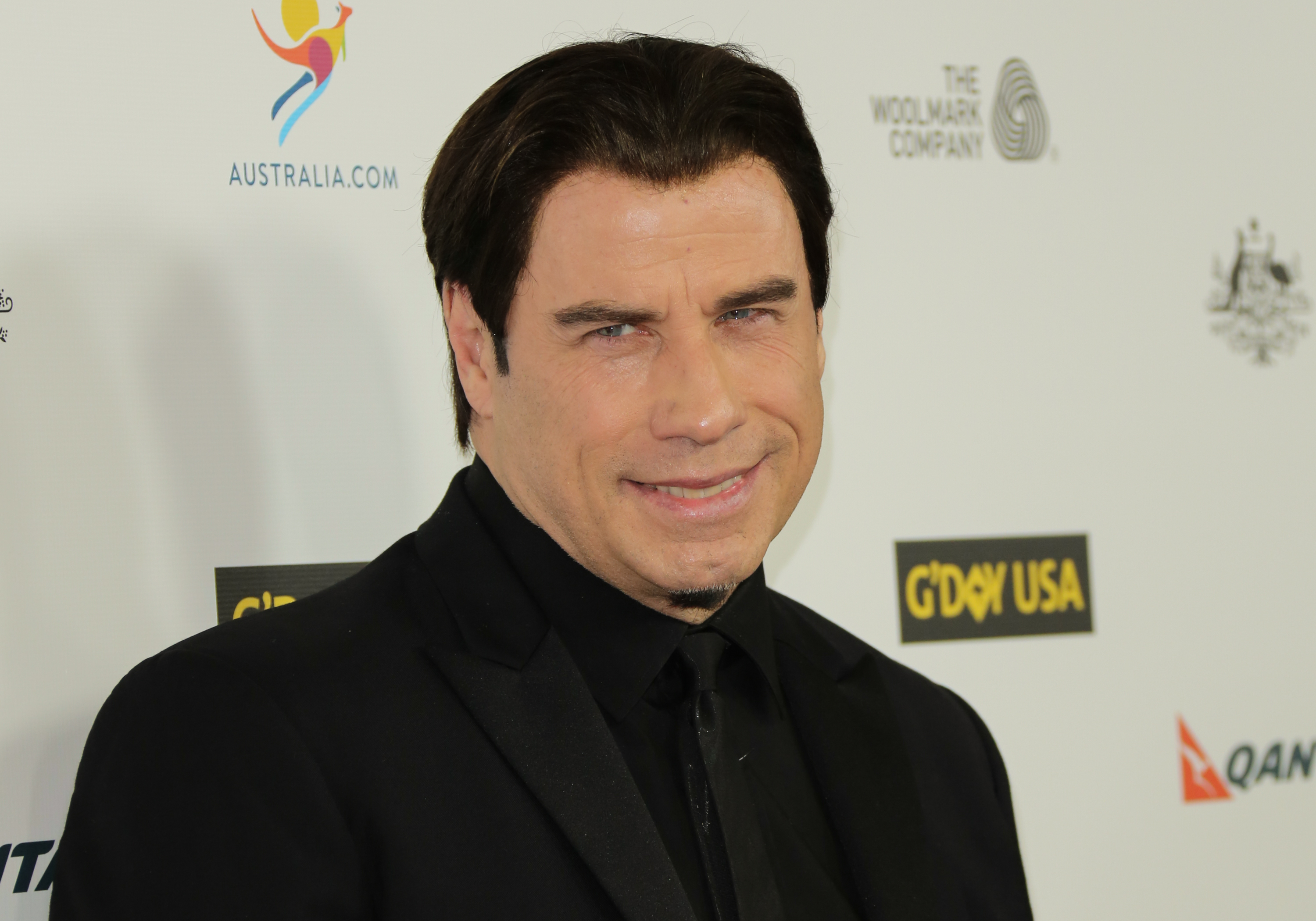 Actor John Travolta at the 2014 G'Day USA Los Angeles black tie gala at the JW Marriott Los Angeles at L.A. LIVE on January 11, 2014 in Los Angeles, California.