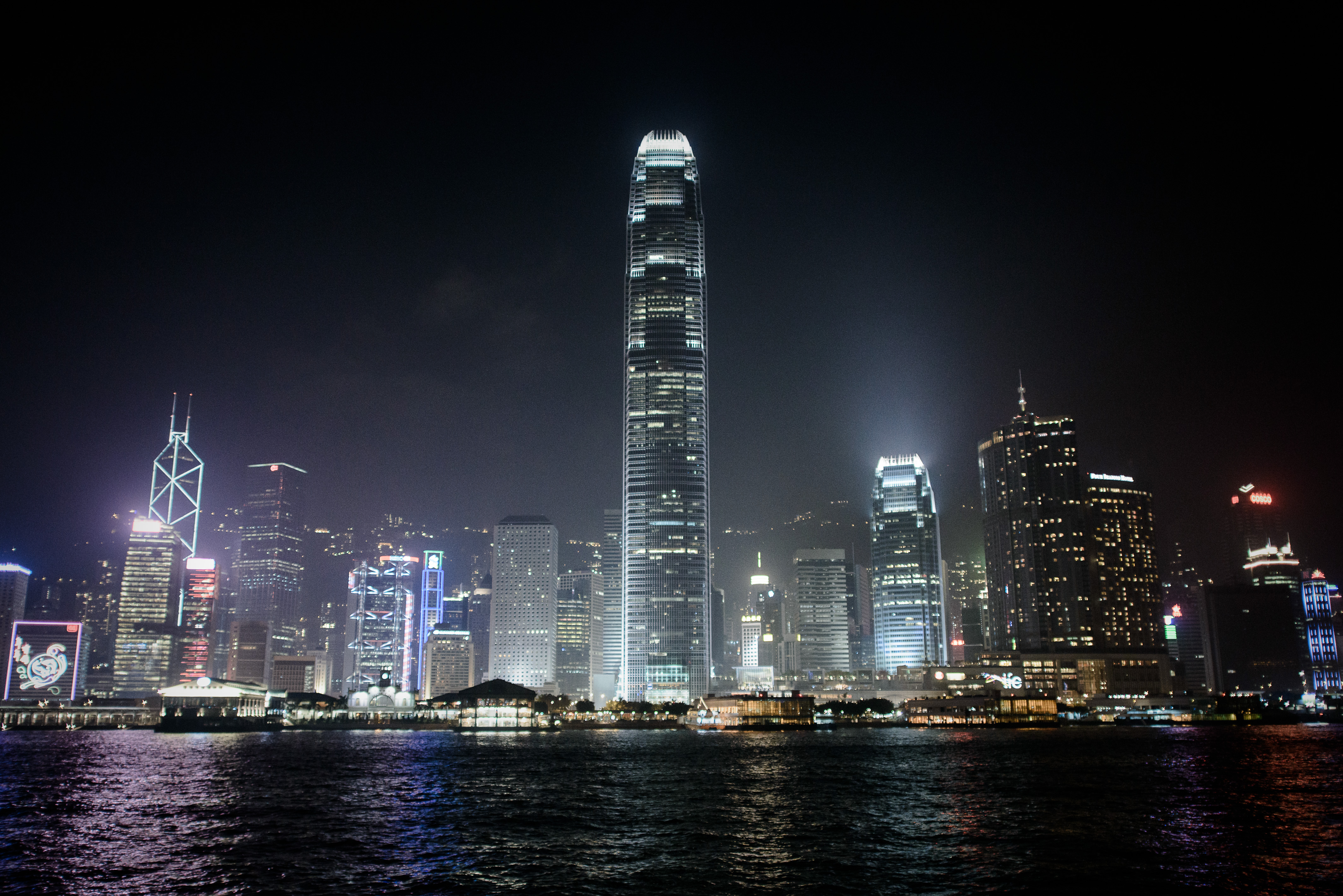 The fabled Hong Kong skyline. The city is home to 45 billionaires, including the world's youngest