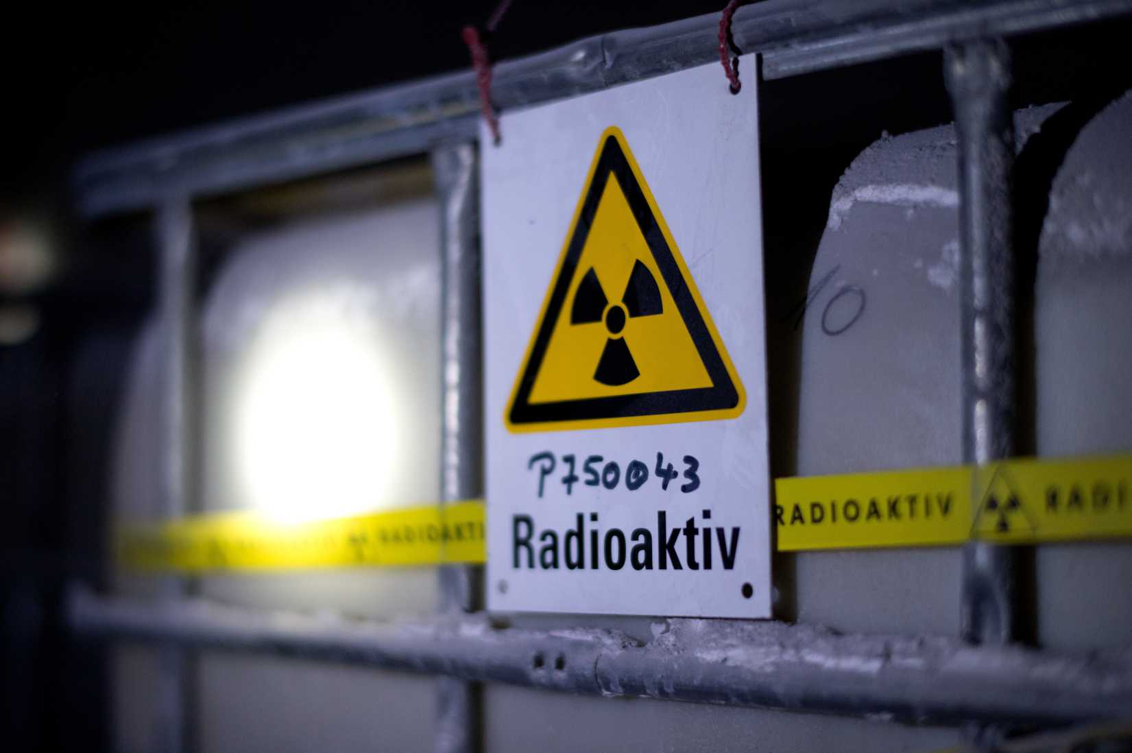 A tank containing radioactive water is seen at the Asse nuclear-waste-storage facility in Remlingen, Germany, on March 4, 2014