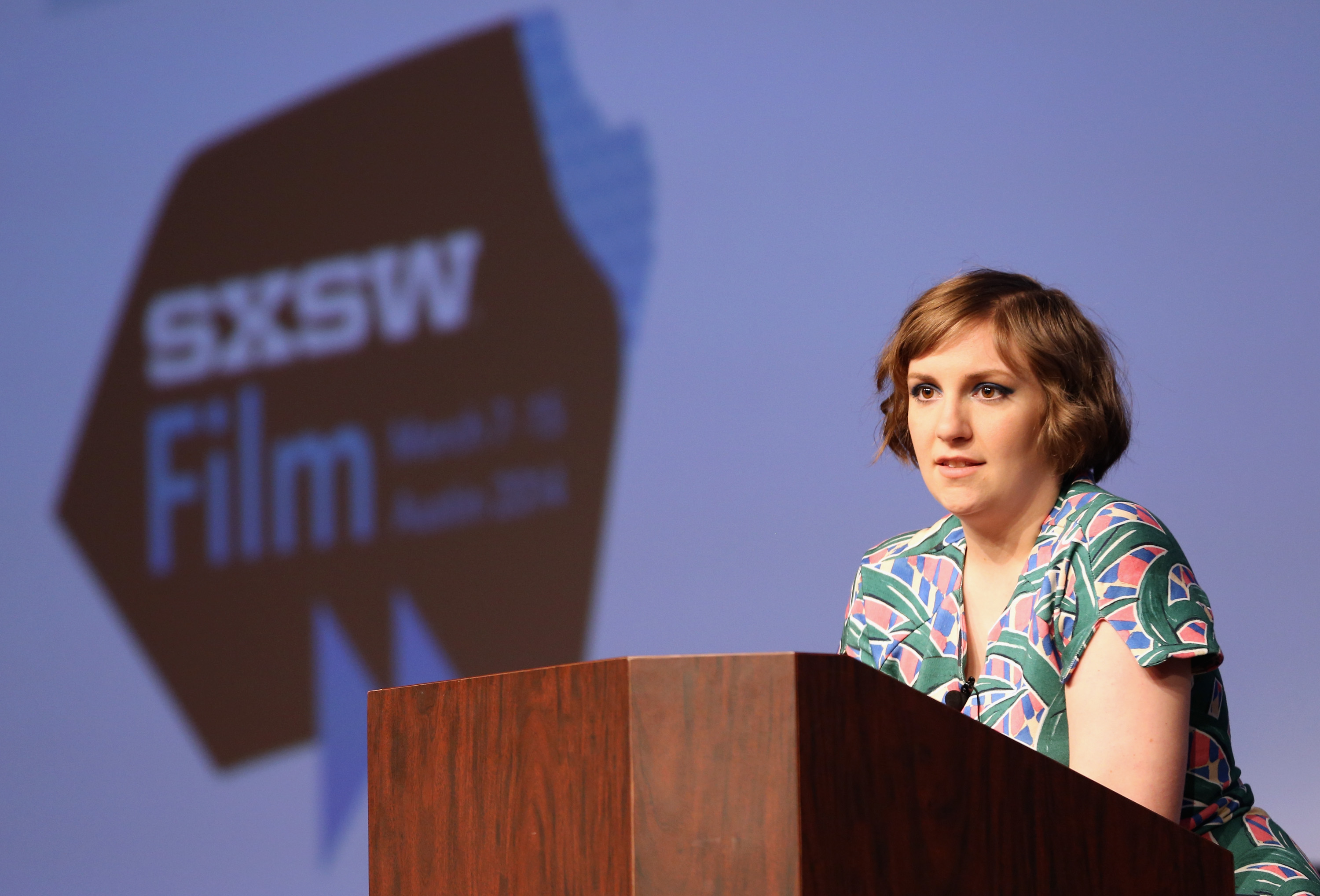 Lena Dunham speaks onstage at the Lena Dunham Keynote during the 2014 SXSW Music, Film + Interactive Festival at Austin Convention Center on March 10, 2014 in Austin, Texas.