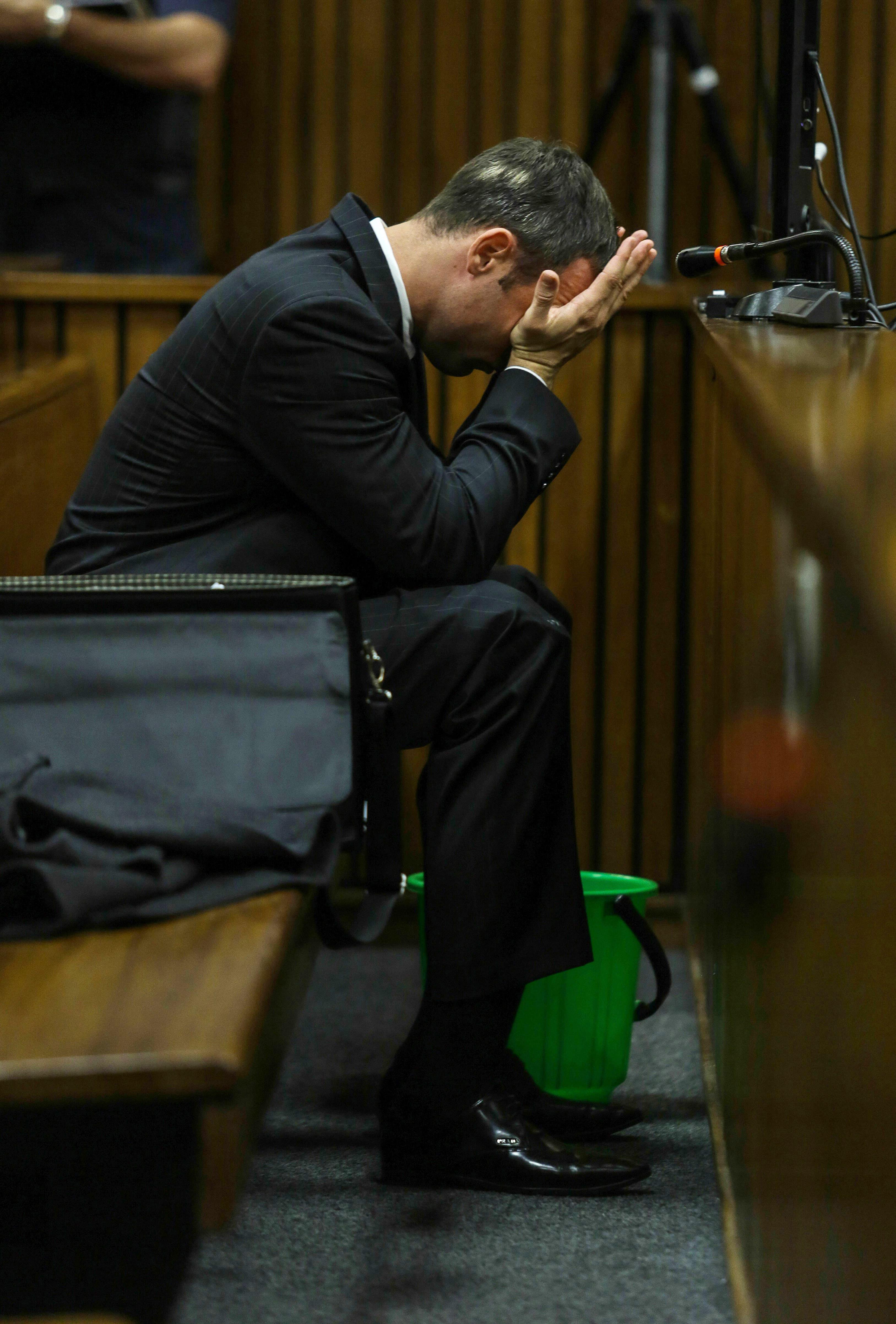 Pistorius at Pretoria High Court on March 11, 2014, in Pretoria, South Africa.