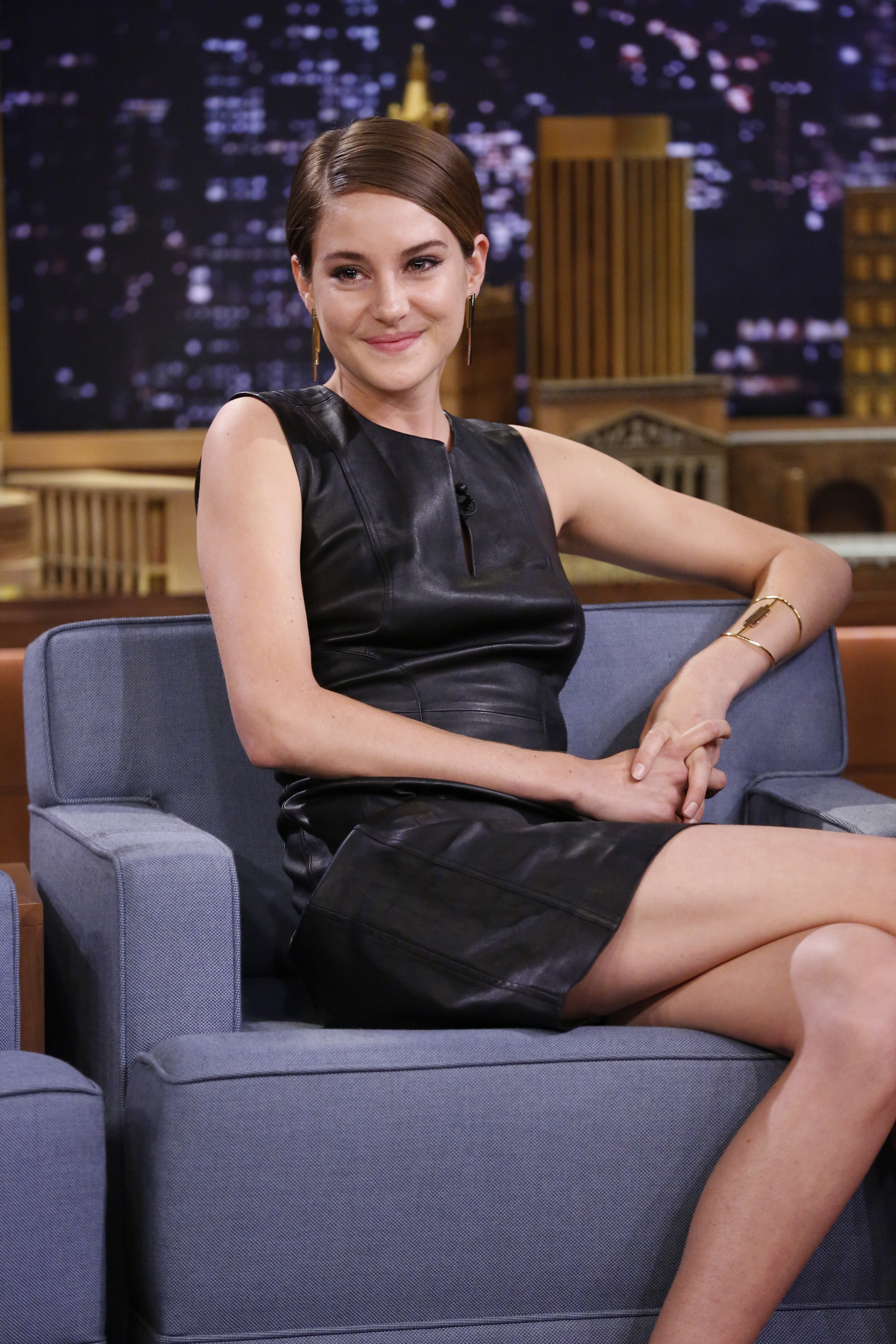 Shailene Woodley on The Tonight Show with Jimmy Fallon on March 12, 2014