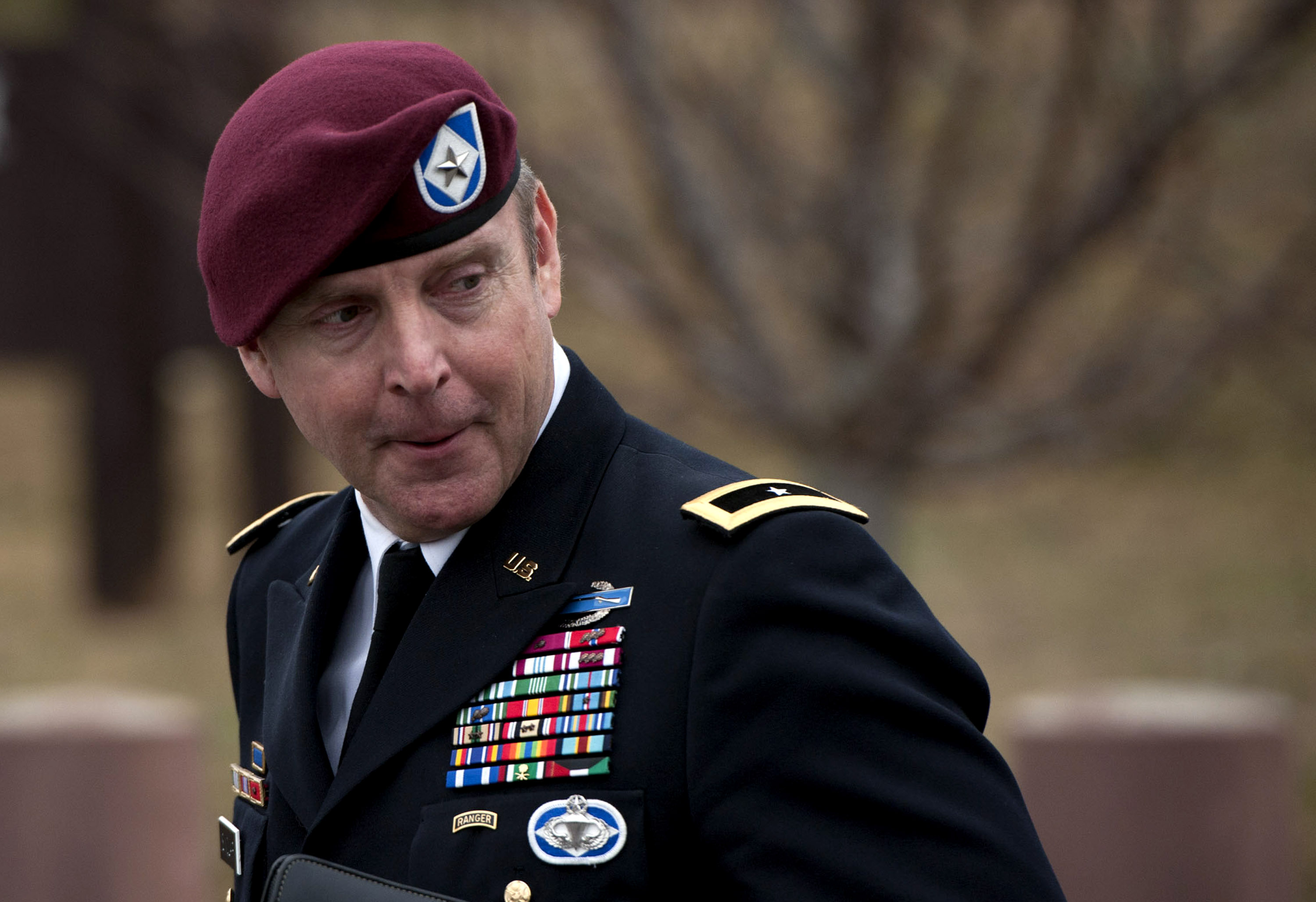 Brigadier General Jeffrey Sinclair leaves the Fort Bragg Courthouse on Monday.