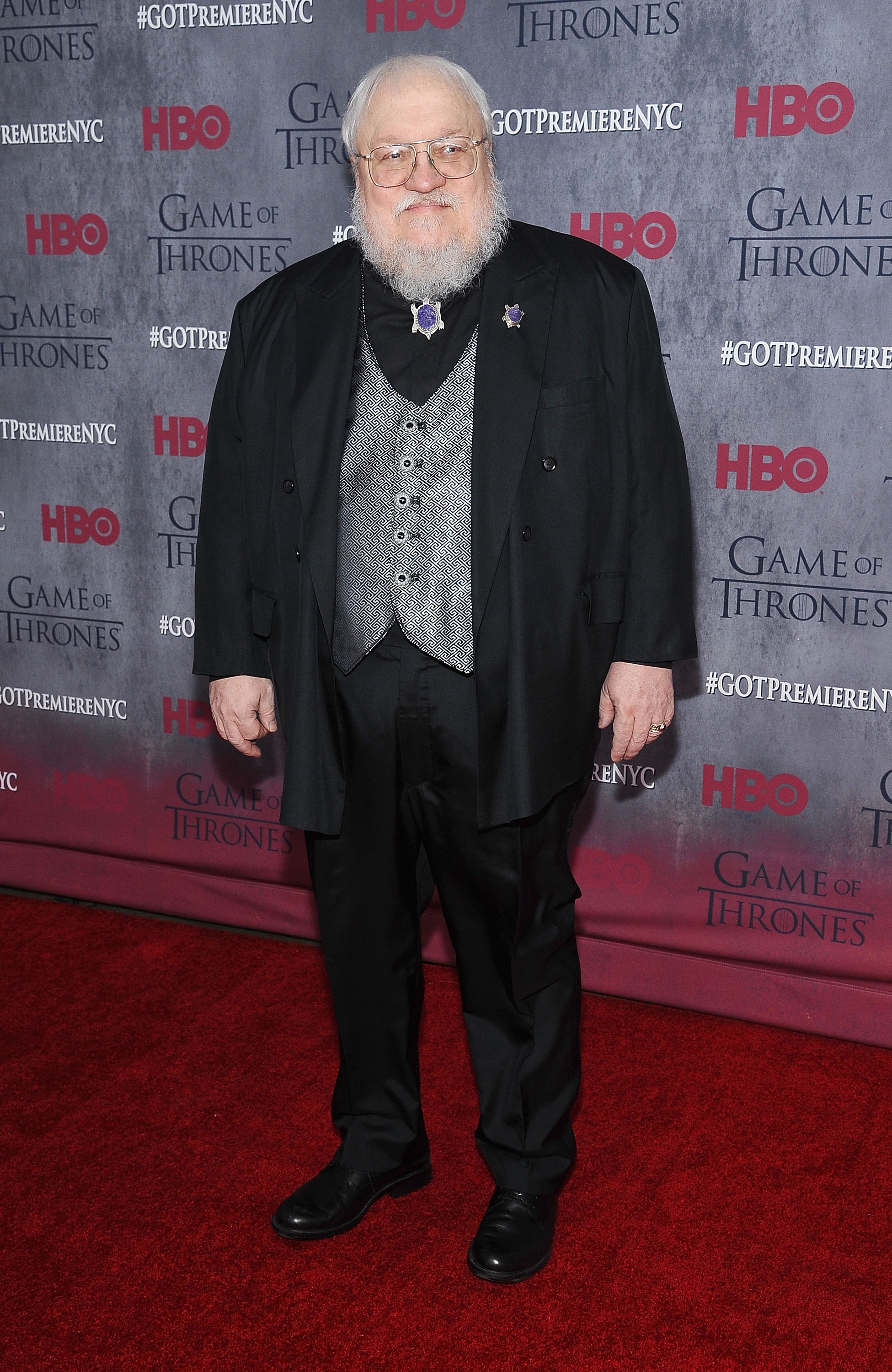 George R.R. Martin at Avery Fisher Hall, Lincoln Center on March 18, 2014 in New York City.