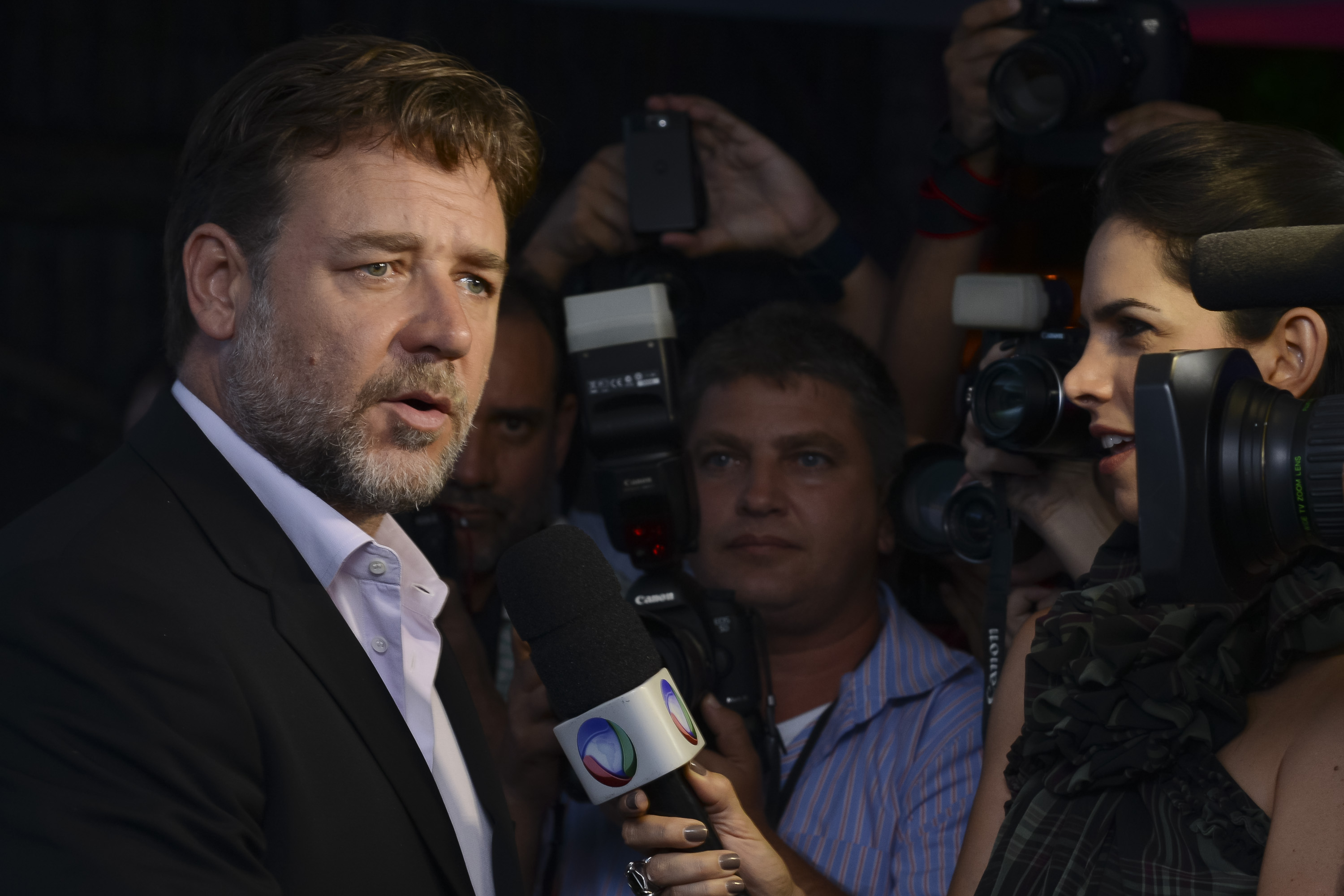 Russell Crowe attends the premiere of Noah in Rio de Janeiro on March 12, 2014. He said the banning of the film in some Muslim countries was  not unexpected