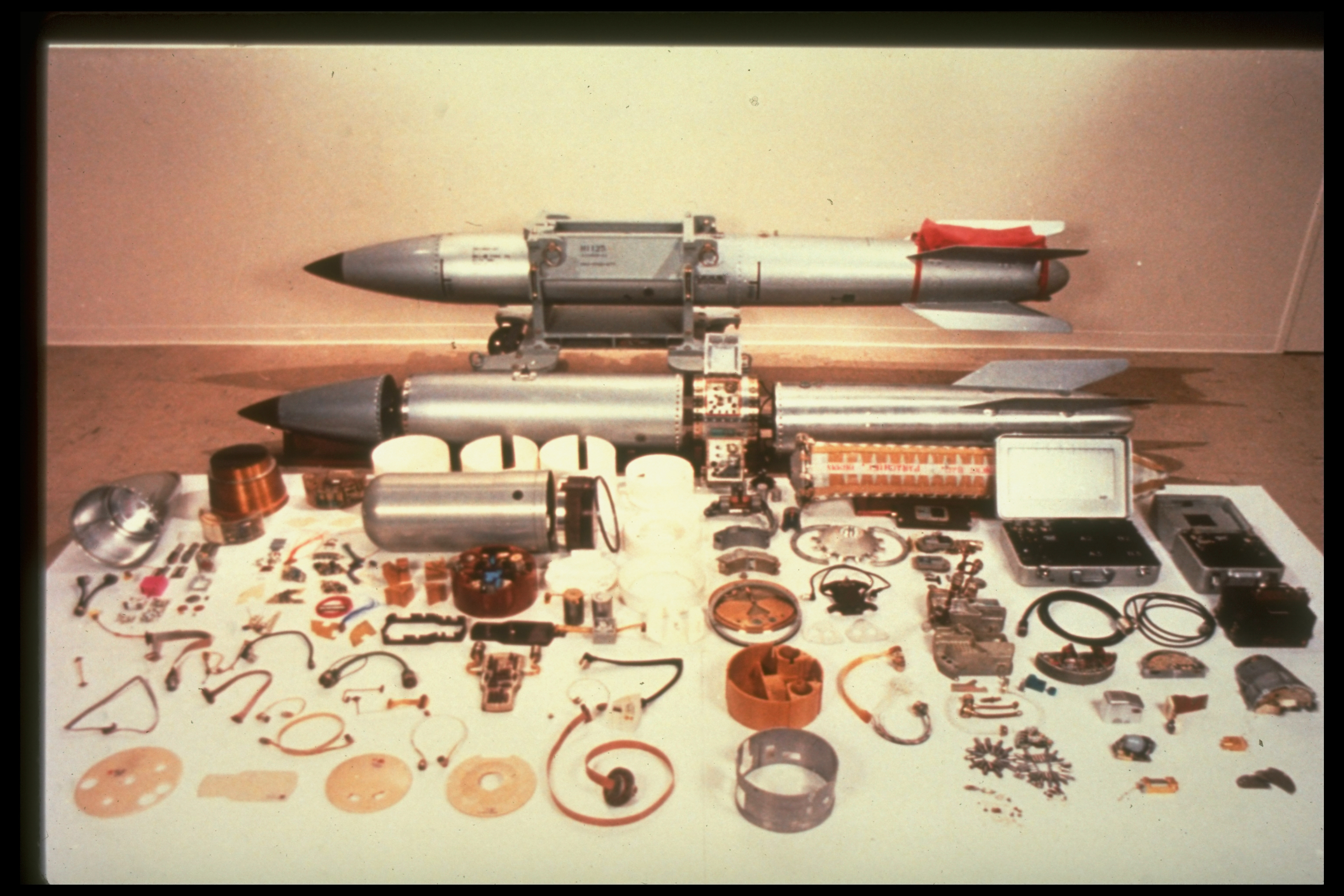 Nuclear weapons, like this U.S. B61 bomb, contain thousands of parts
