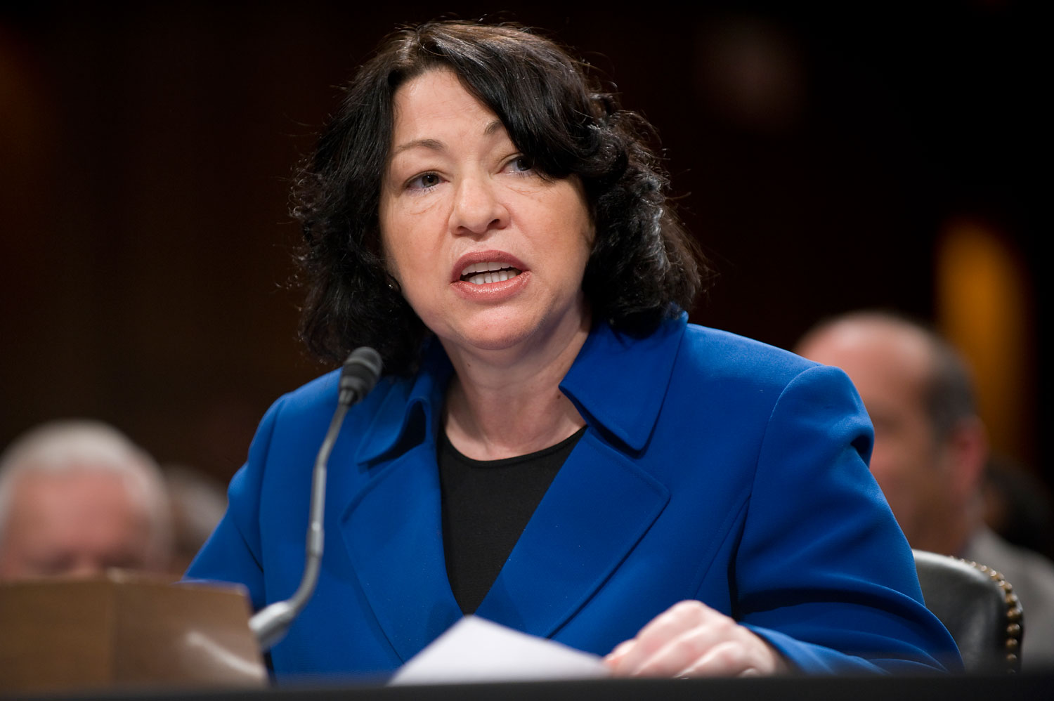 Supreme Court nominee Sonia Sotomayor makes on opening statement during her confirmation hearing before the Senate Judiciary Committee, July 13, 2009.