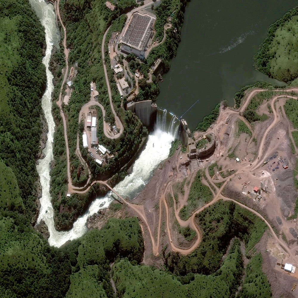 Cuanza River, Angola, April 28, 2013 – Cambambe Dam