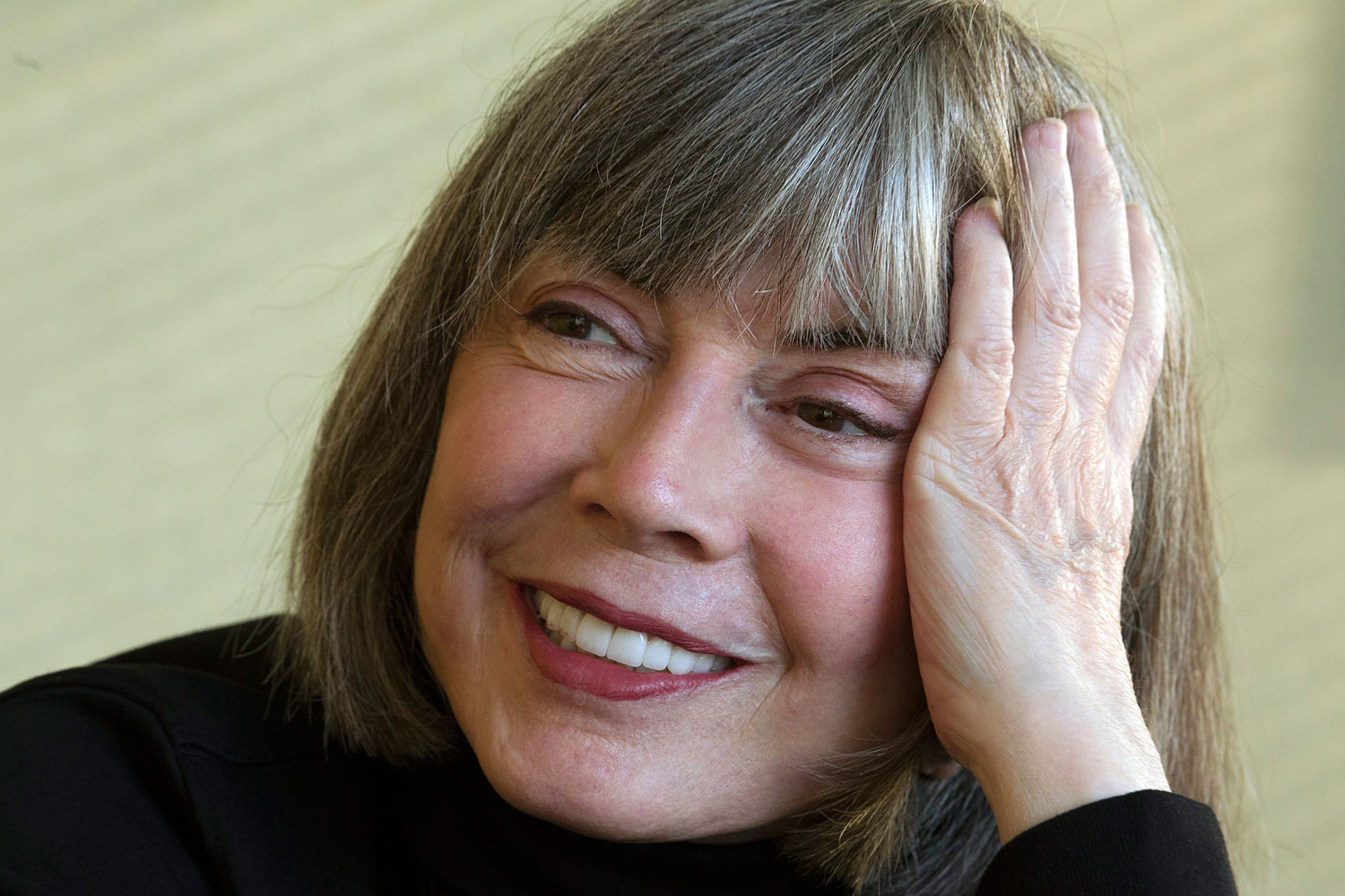 Author Anne Rice is shown during an interview, Feb. 13, 2012.