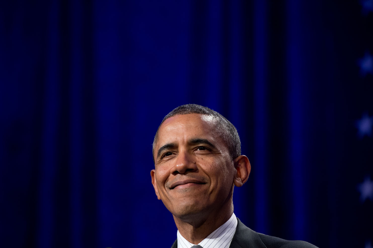 U.S. President Barack Obama addresses the National Organizing summit in Washington on Feb. 25, 2014.