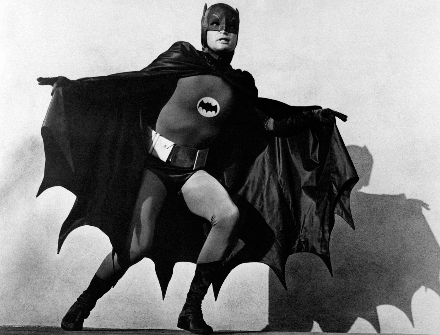Adam West played the role of masked crime fighter for three seasons on the 1960s television series <i>Batman</i>.