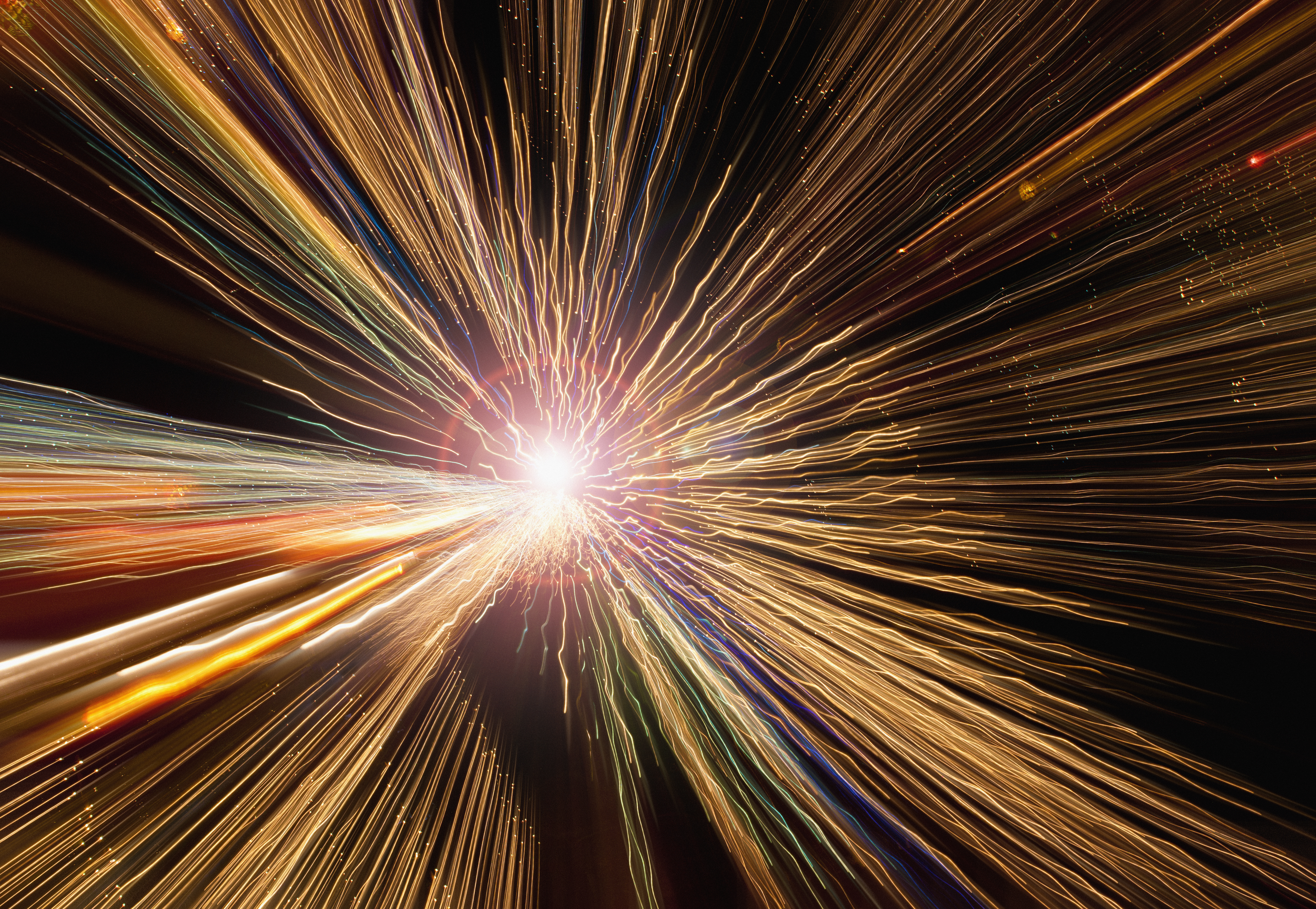 In the instant after the Big Bang, the universe expanded faster than the speed of light