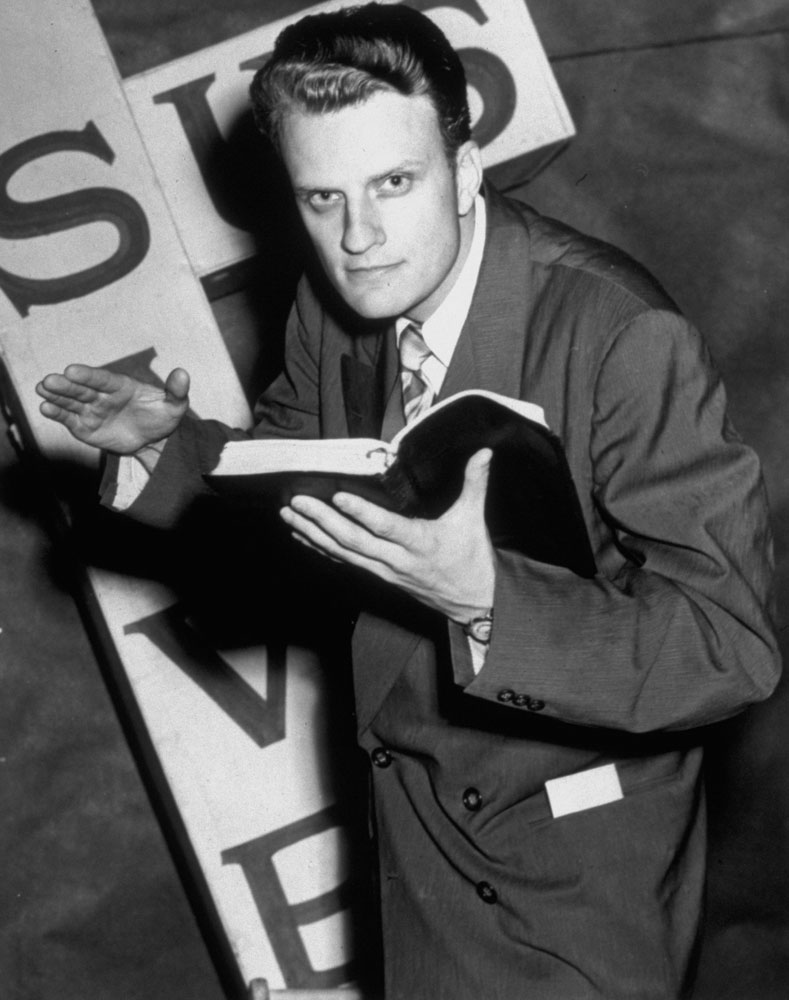 Missionary                                                              In 1949, Graham brought his intense and dramatic style to Los Angeles. Originally scheduled for only three weeks, the missions went on for eight.
