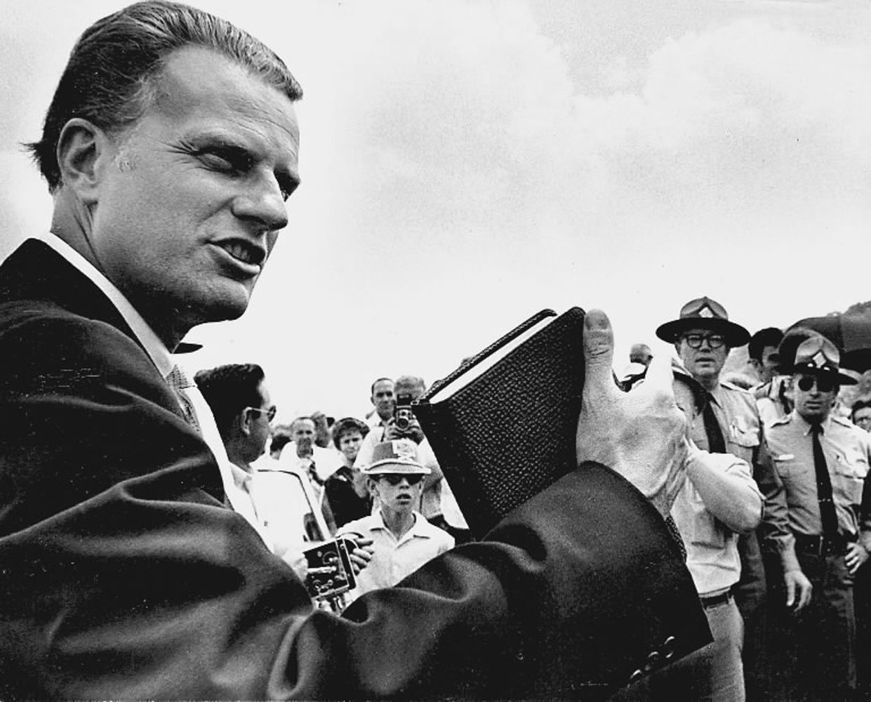 Bible in Hand                                                              Preaching in North Carolina, 1962.