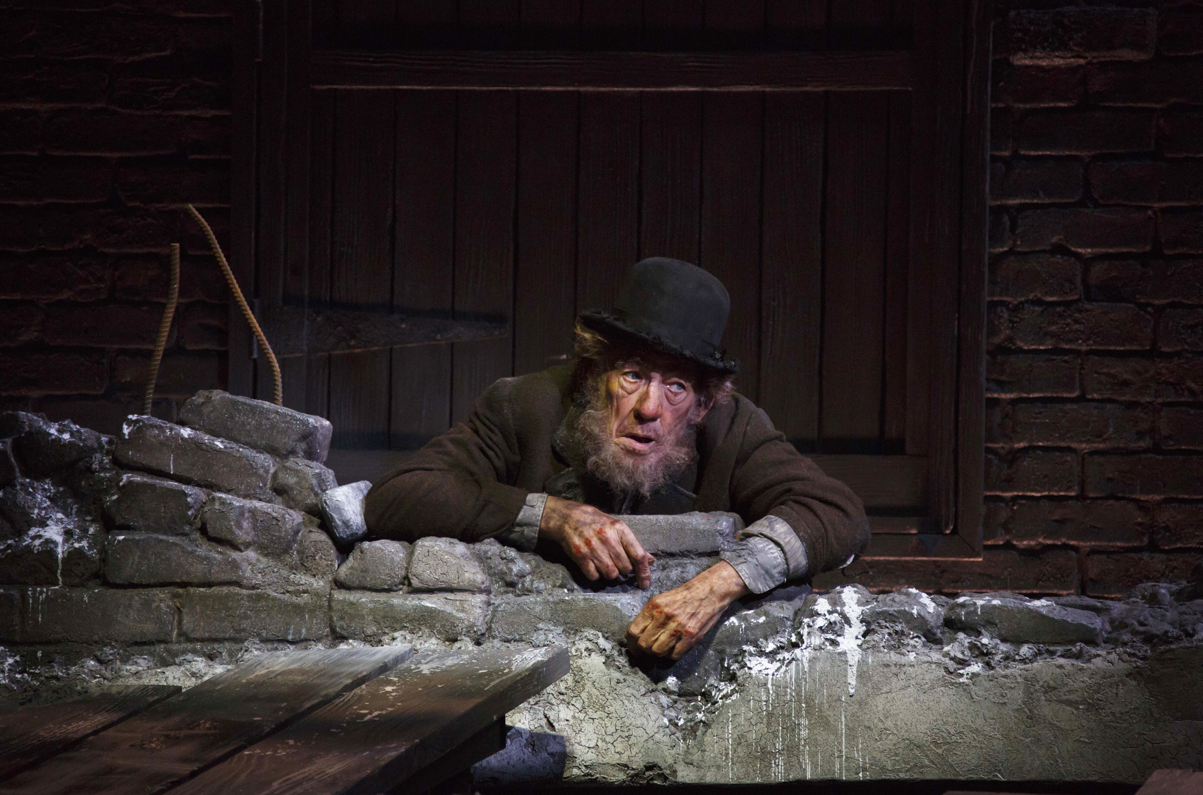A veteran of the stage, Sir Ian McKellen made his Broadway debut in <i>The Promise</i> in 1967. Above, he plays Estragon in <i>Waiting for Godot</i> in 2014.