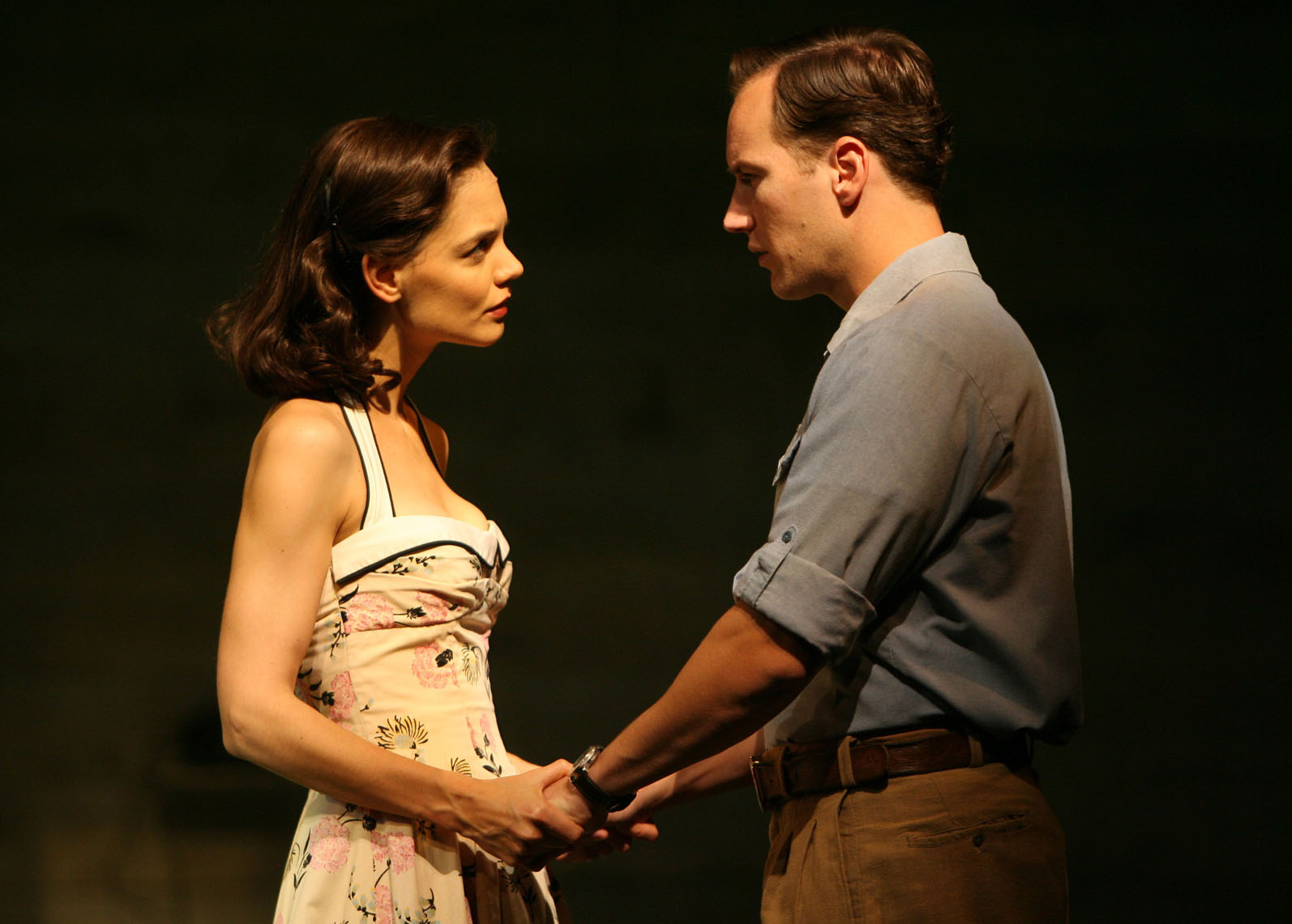 Katie Holmes played Ann Deever in her Broadway debut in Arthur Miller's <i>All My Sons</i>.
