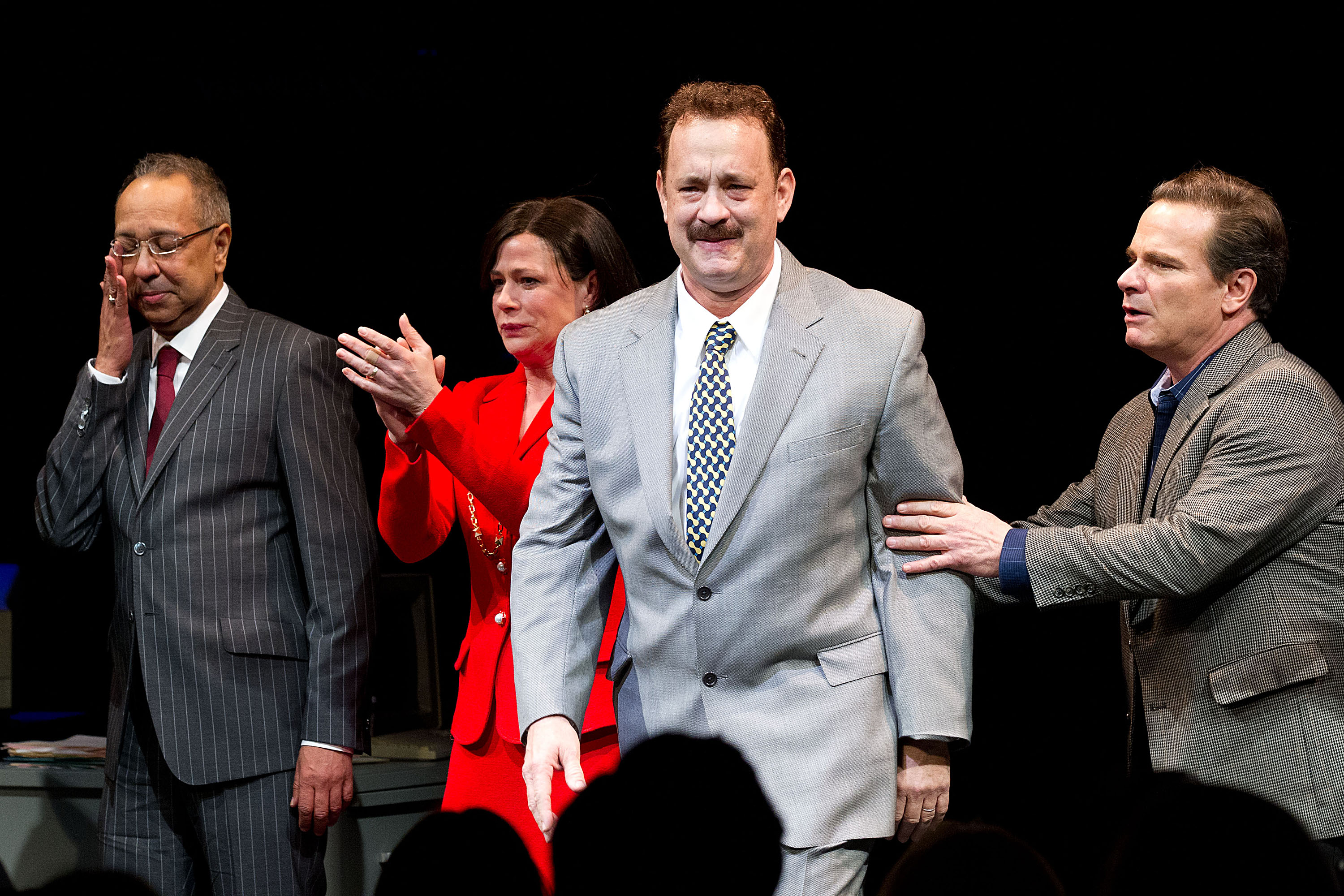 Tom Hanks finally added a Broadway role to his impressive resume when he played Mike McAlary in the 2013 original play <i>Lucky Guy</i>.