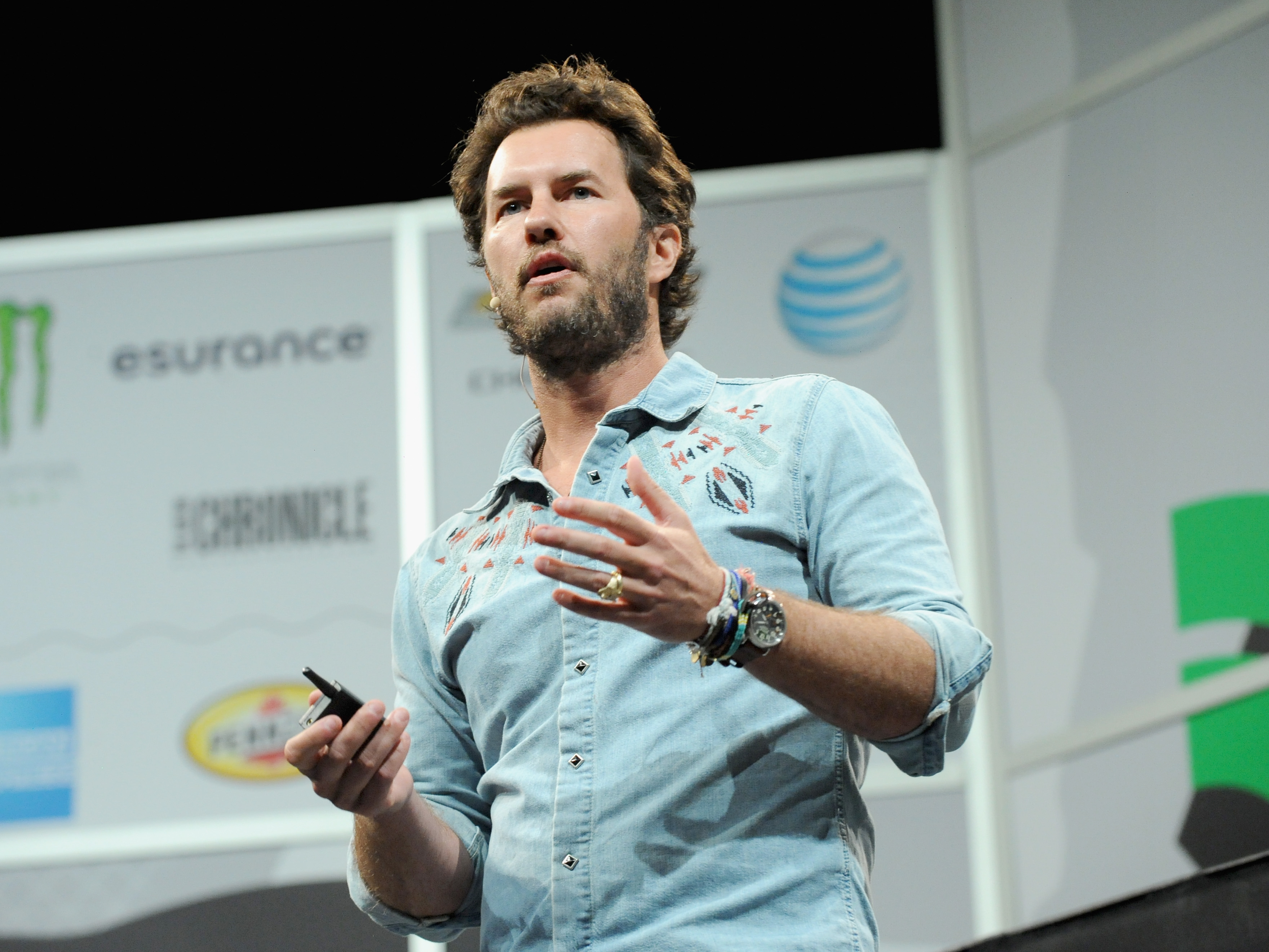 Toms founder Blake Mycoskie speaks at the 2014 SXSW Music, Film + Interactive Festival at Austin on March 11, 2014 in Austin, Texas.