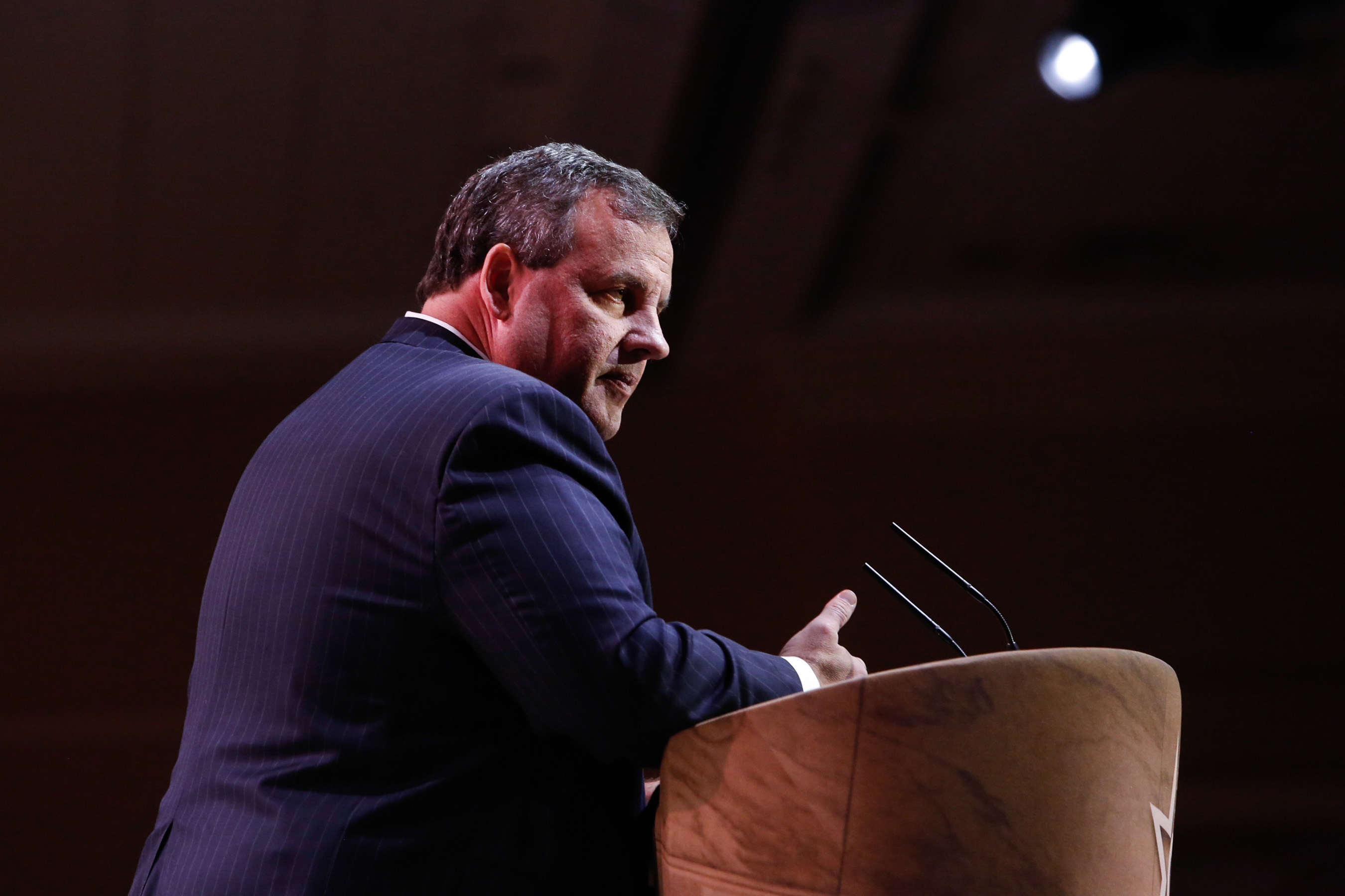 New Jersey Governor Chris Christie speaks during the American Conservative Union Conference March 6, 2014, in National Harbor, Md.