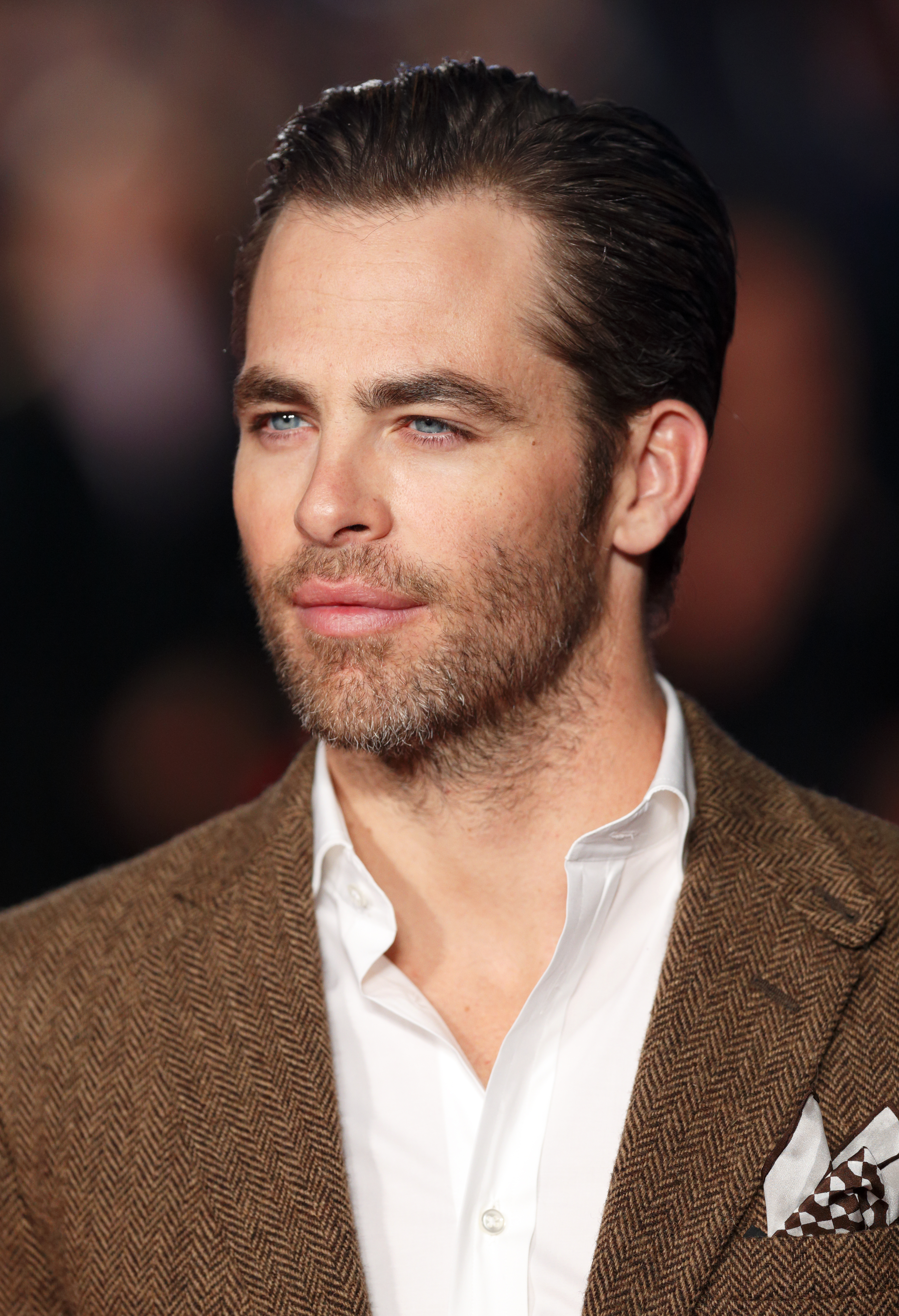Chris Pine attends the UK Premiere of 'Jack Ryan: Shadow Recruit' at Vue Leicester Square on Jan. 20, 2014 in London.