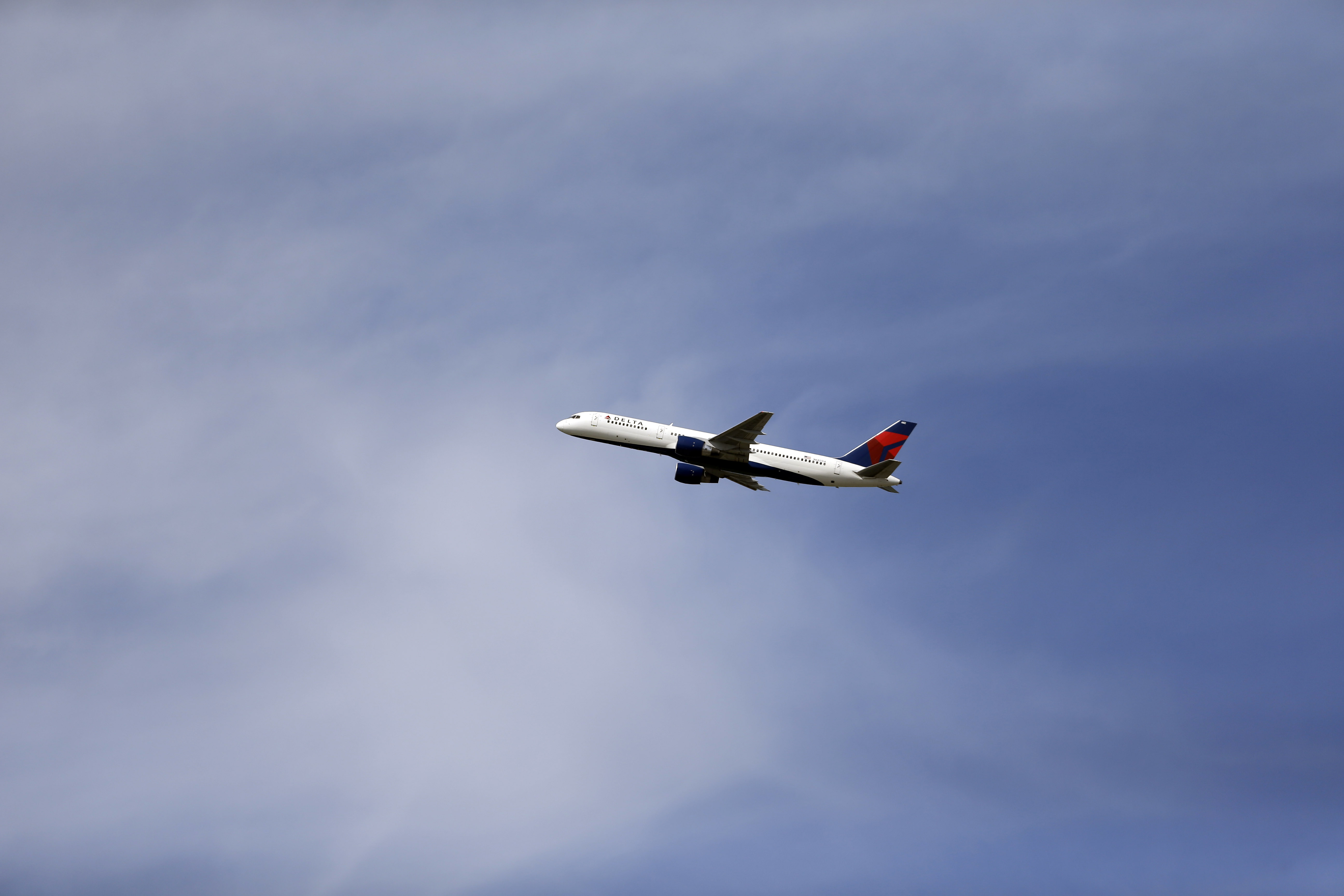 A Delta Air Lines Boeing 757 on  July 25, 2013 in St. Louis.