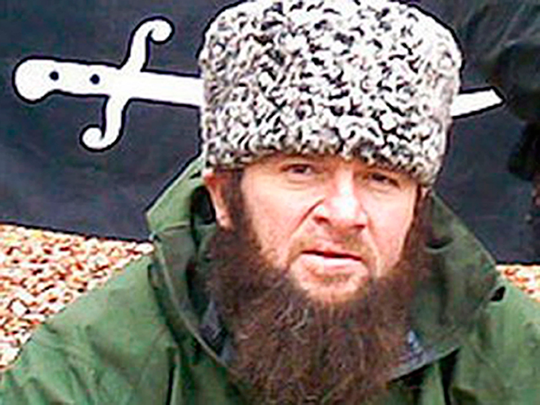 An undated photo of a man identified as Chechen separatist leader Doku Umarov