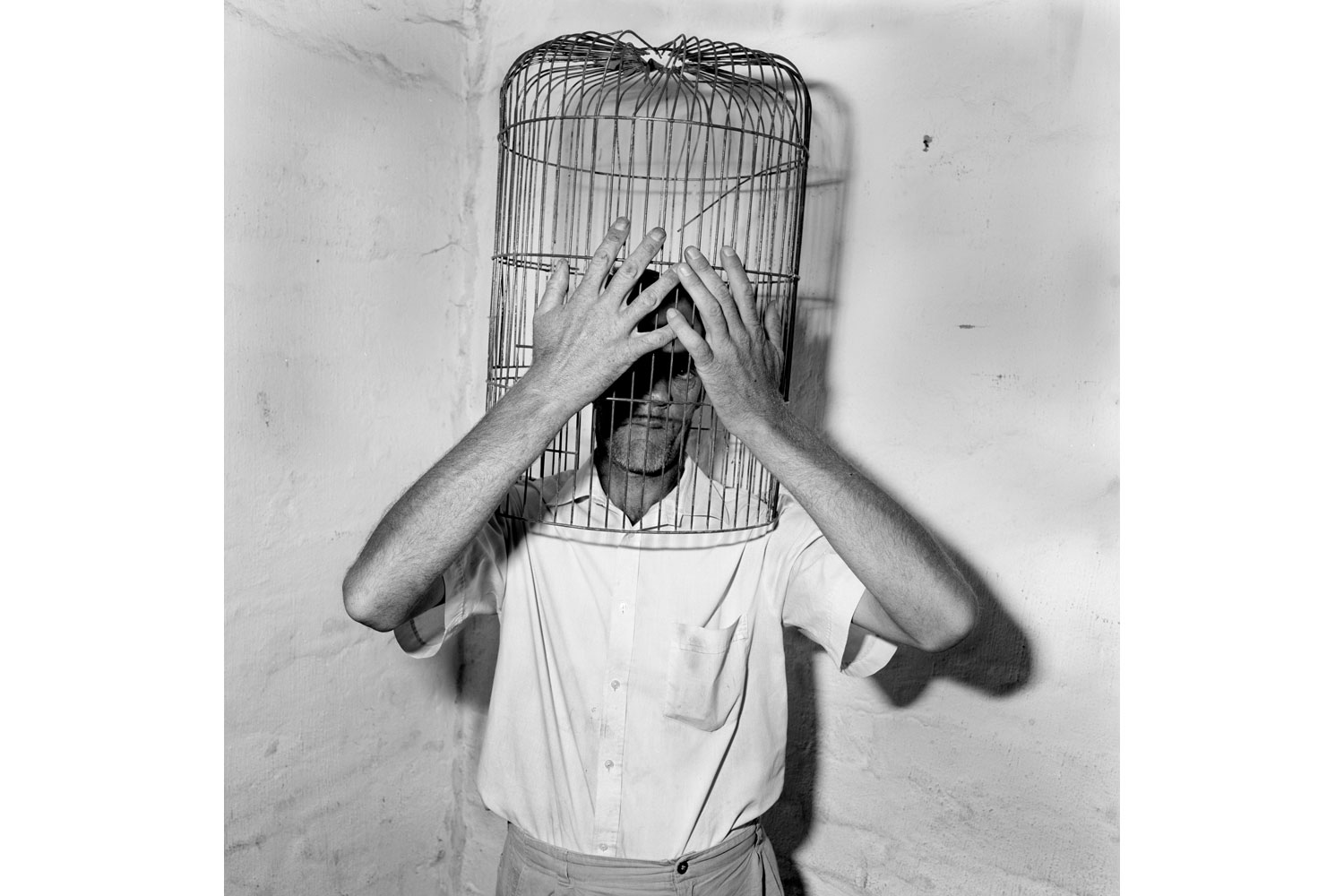 'Encaged,' from Roger Ballen's Asylum of the Birds, published by Thames & Hudson