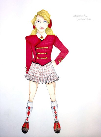 Heathers costume sketch: Heather C