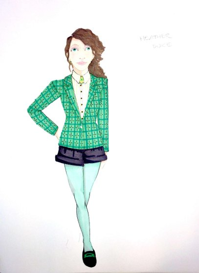 Heathers costume sketch: Heather Duke