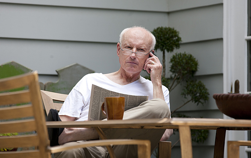James Rebhorn as Frank Mathison (Claire Dane's father) in Showtime's Homeland.