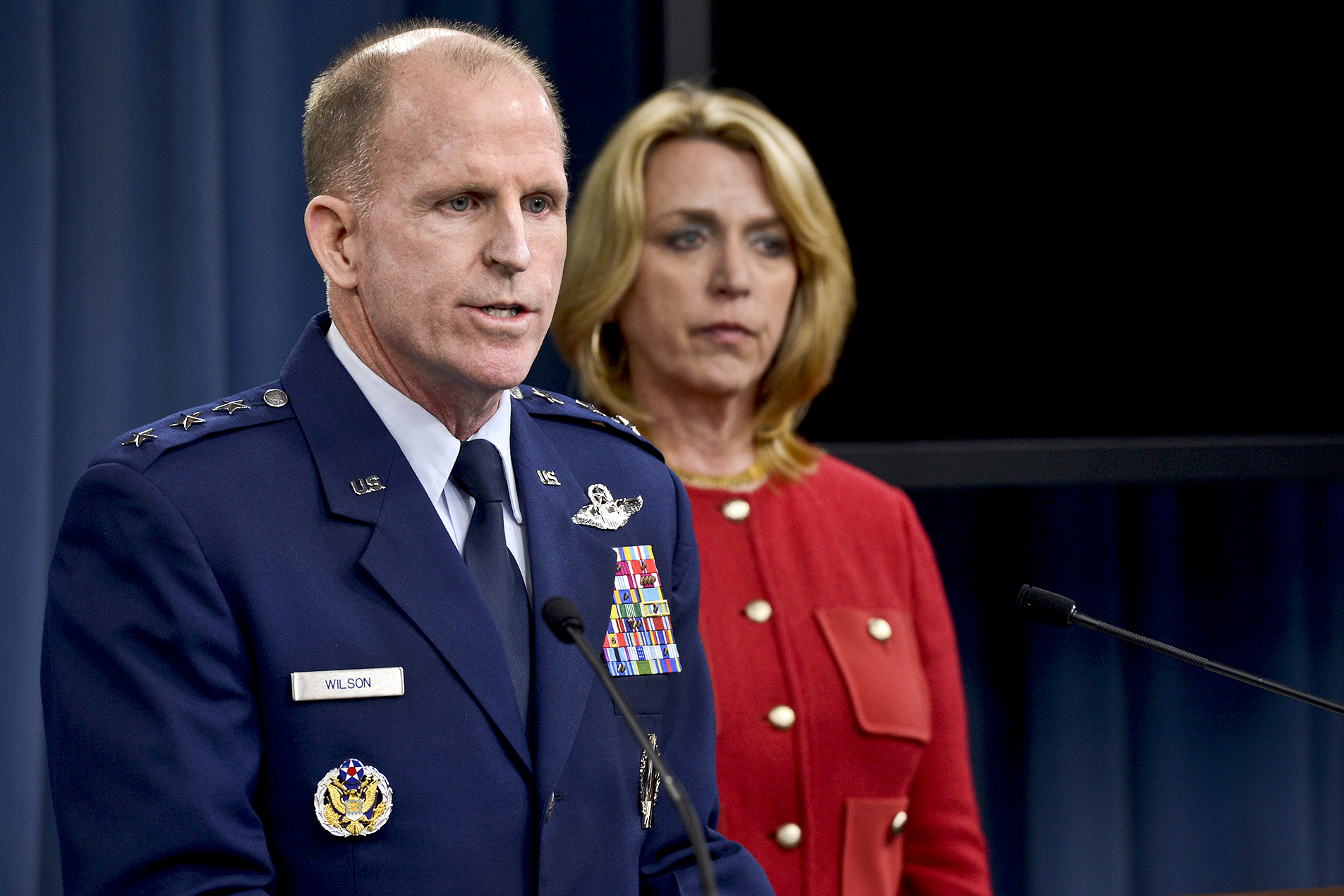 Lieut. General Stephen Wilson, chief of the Air Force's Global Strike Command, and Secretary of the Air Force Deborah Lee James, detail what happened at Malmstrom.