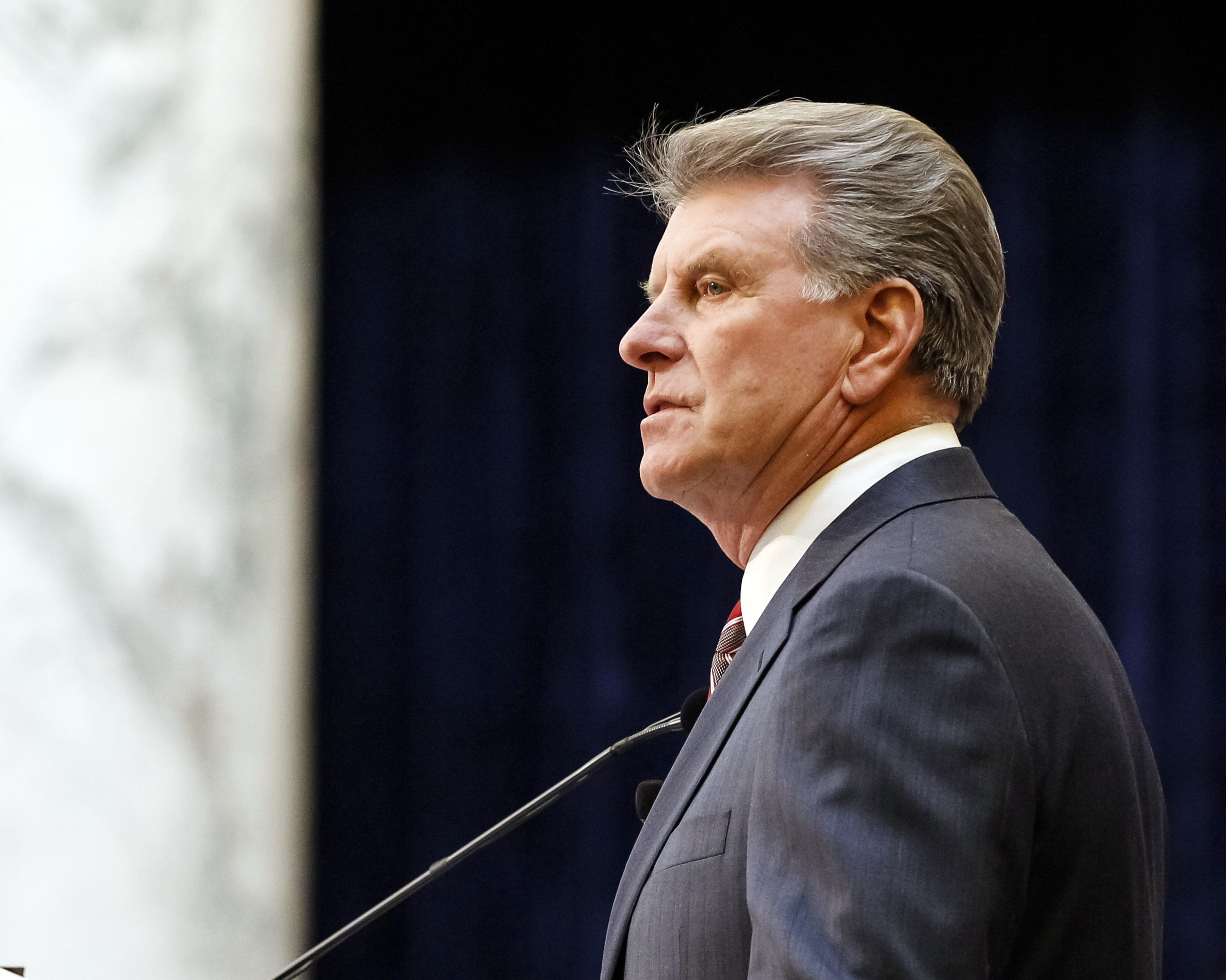 Idaho Gov. C.L.  Butch  Otter delivers his State of the State address inside the house chambers at the state Capitol building on Monday, Jan. 6, 2014, in Boise, Idaho.