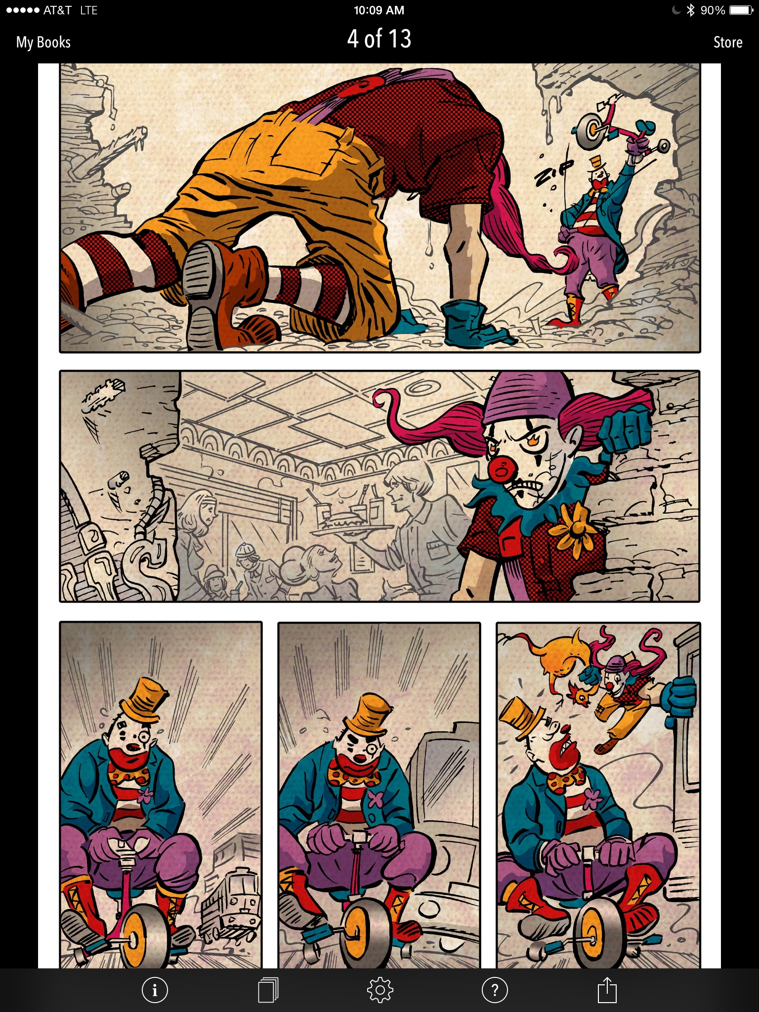 Clown Fight!, a ComiXology Submit comic by Rob Herrington, Ger Curti and Laura Maruca