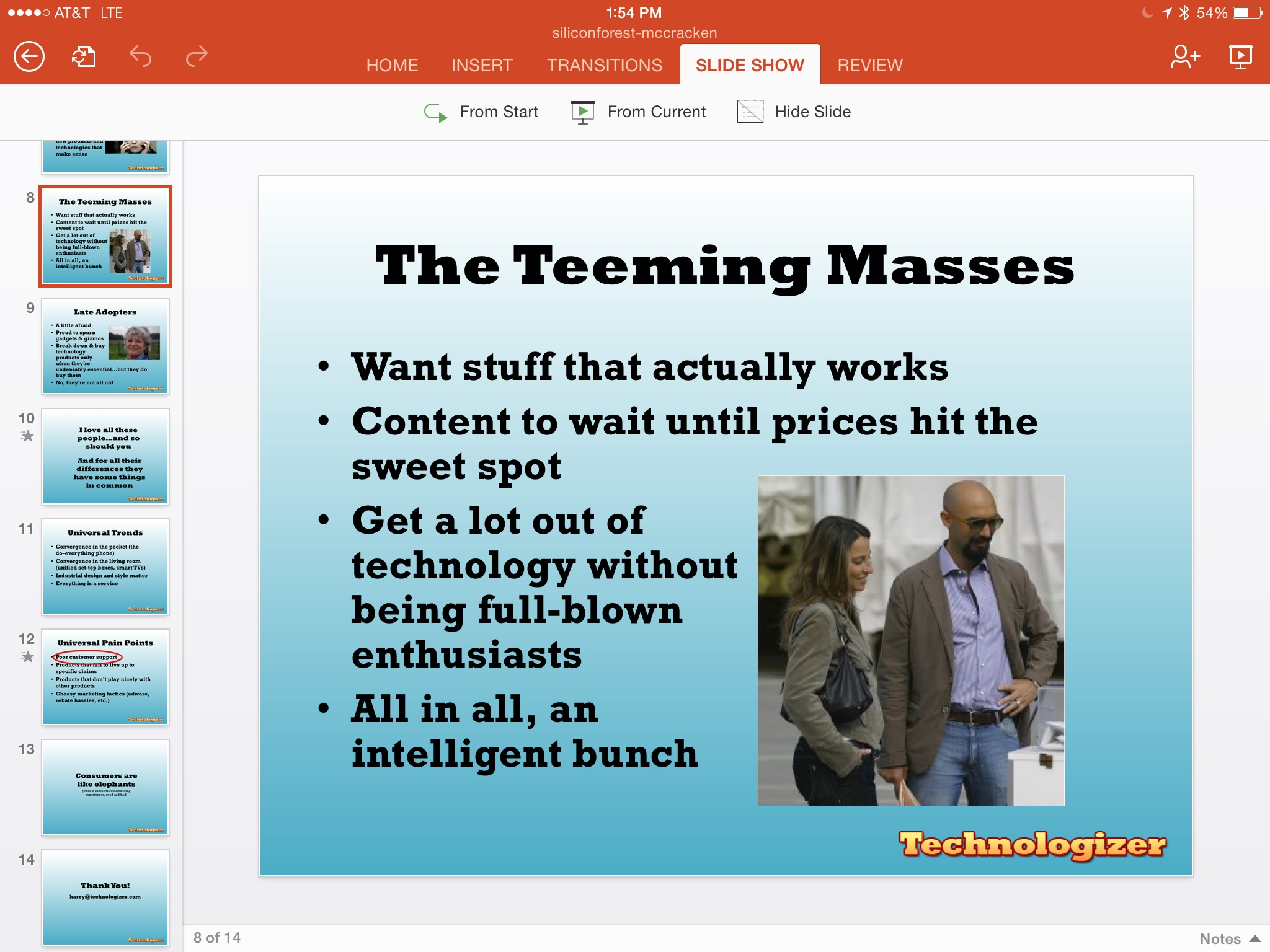 PowerPoint for the iPad
