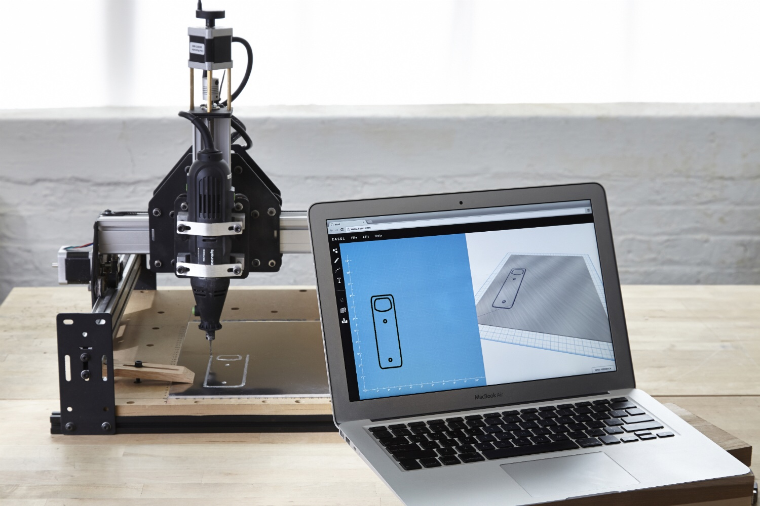 Inventable's Easel design service and a Shapeoko desktop CNC milling machine