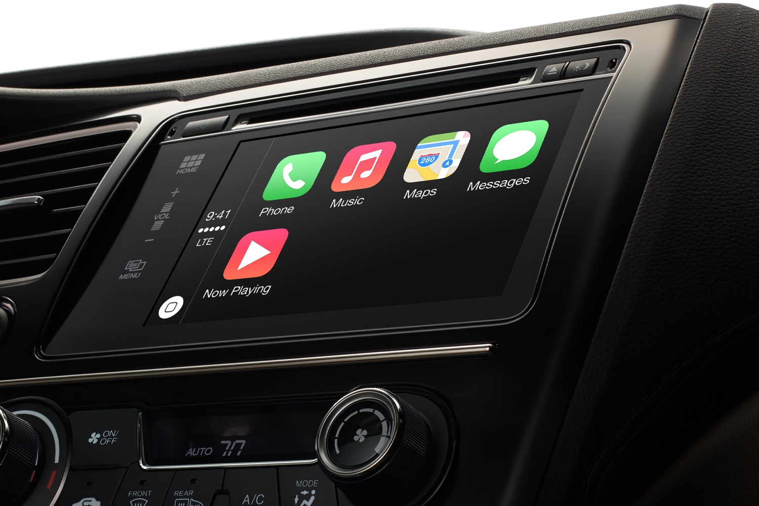Apple's CarPlay interface offers simplified iPhone apps that can be used while driving.