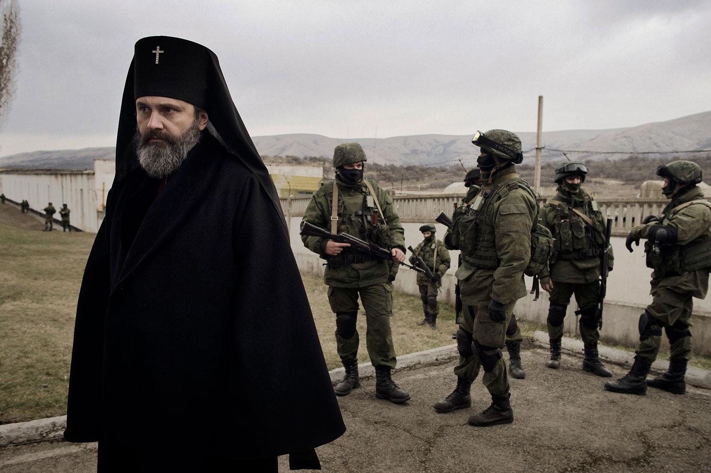 Archbishop Kliment, in Simferopol, Ukraine, March 2, 2014.