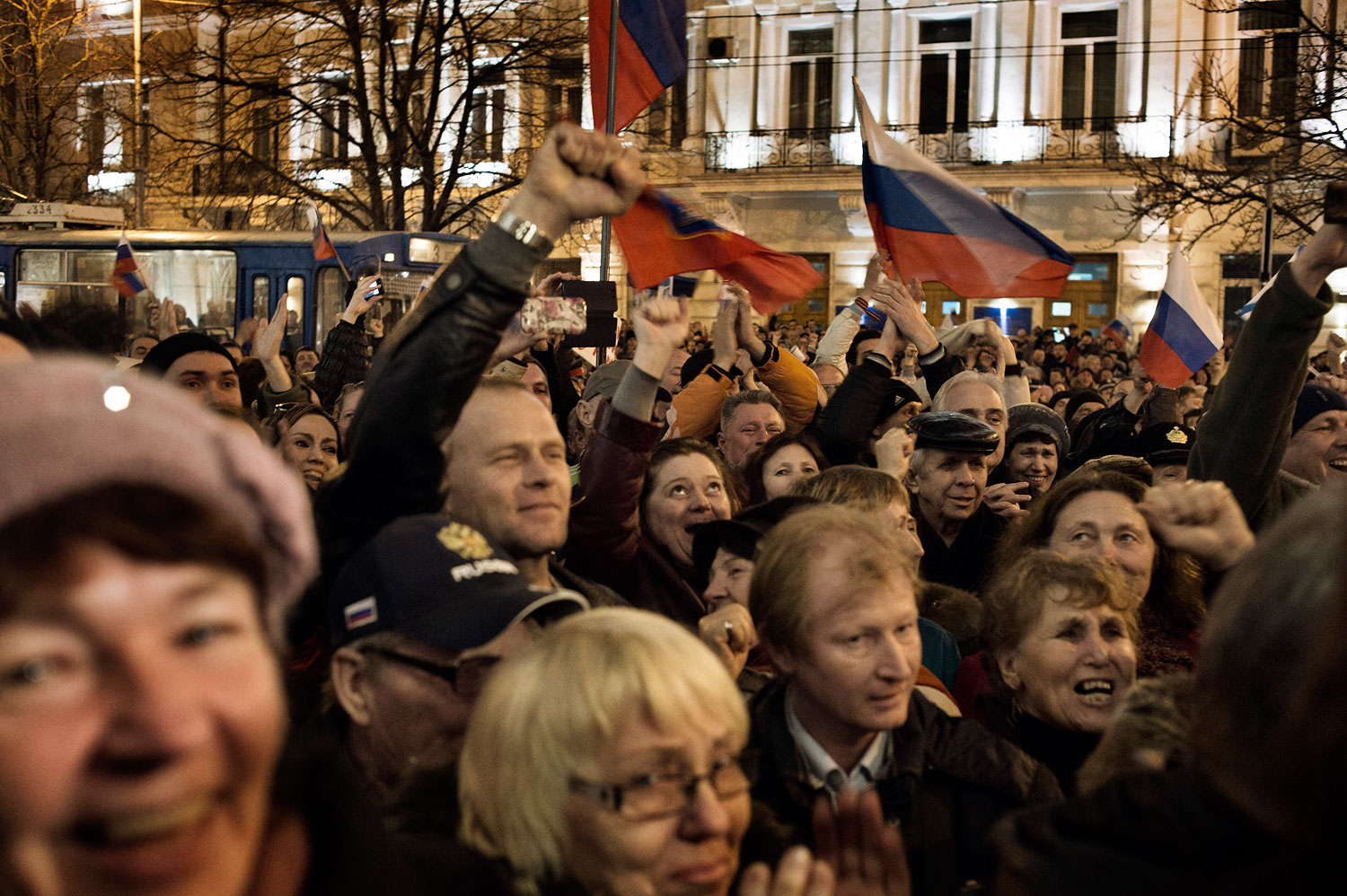 A rally of Pro-Russian supporters in Sevastopool, Ukraine, March 06, 2014.