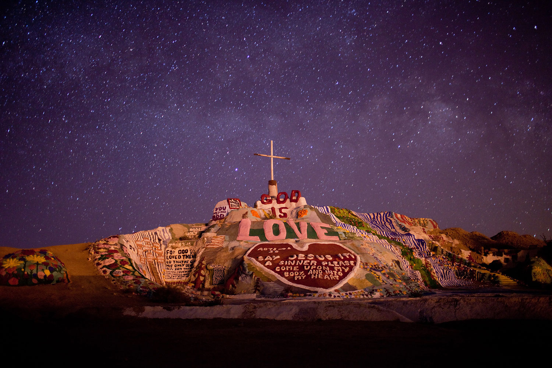 Salvation Mountain, the art installation, near Niland, Calif., on the Salton Sea.