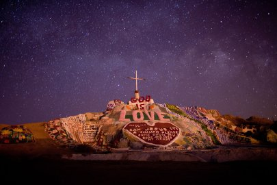 Salvation Mountain, the art installation, near Niland, Calif., on the Salton Sea.