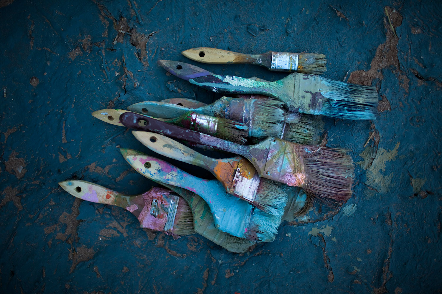 Knight's paint brushes.