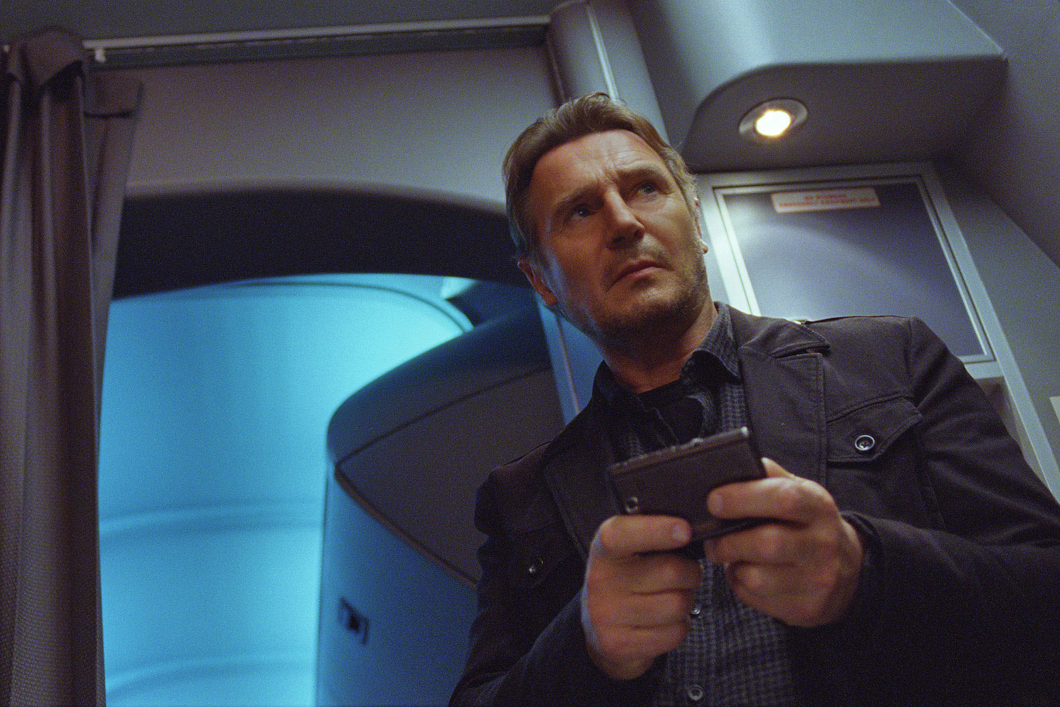 Liam Neeson in a scene from  Non-Stop.